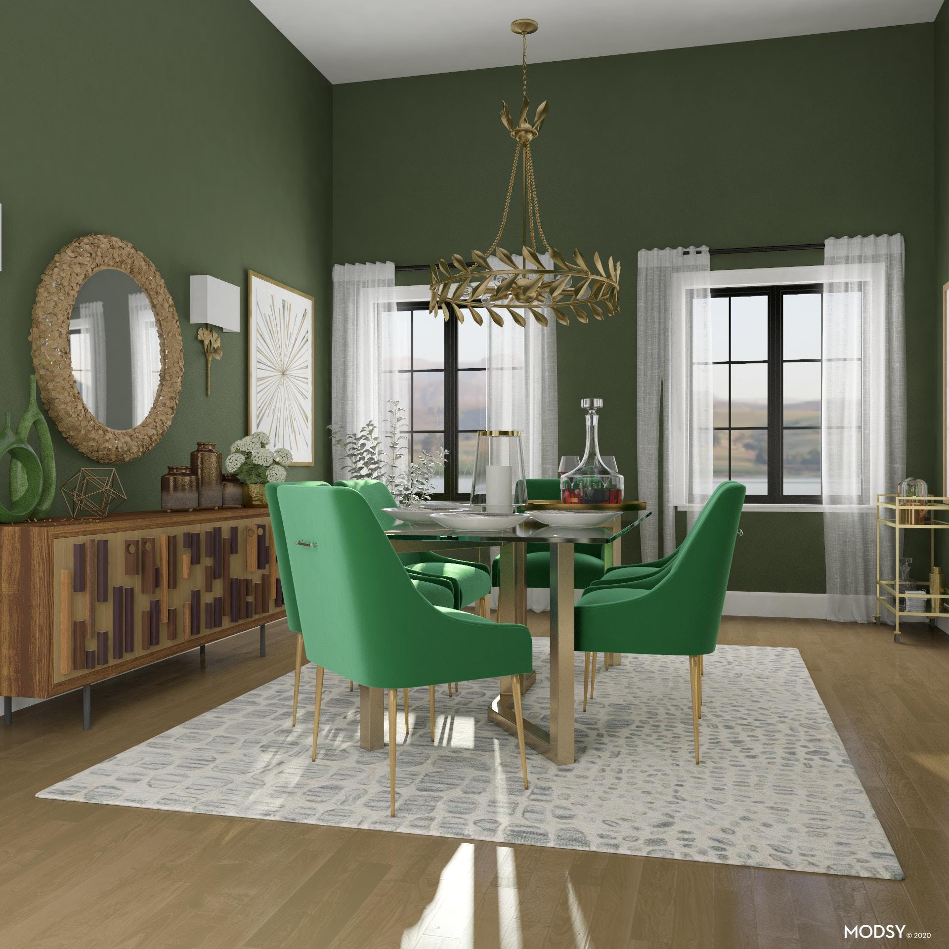Glam and Green Come Together