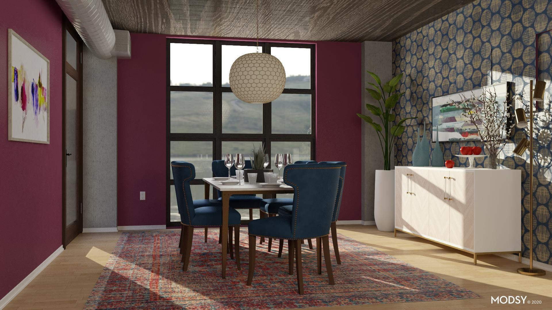 Bold Contemporary Dining