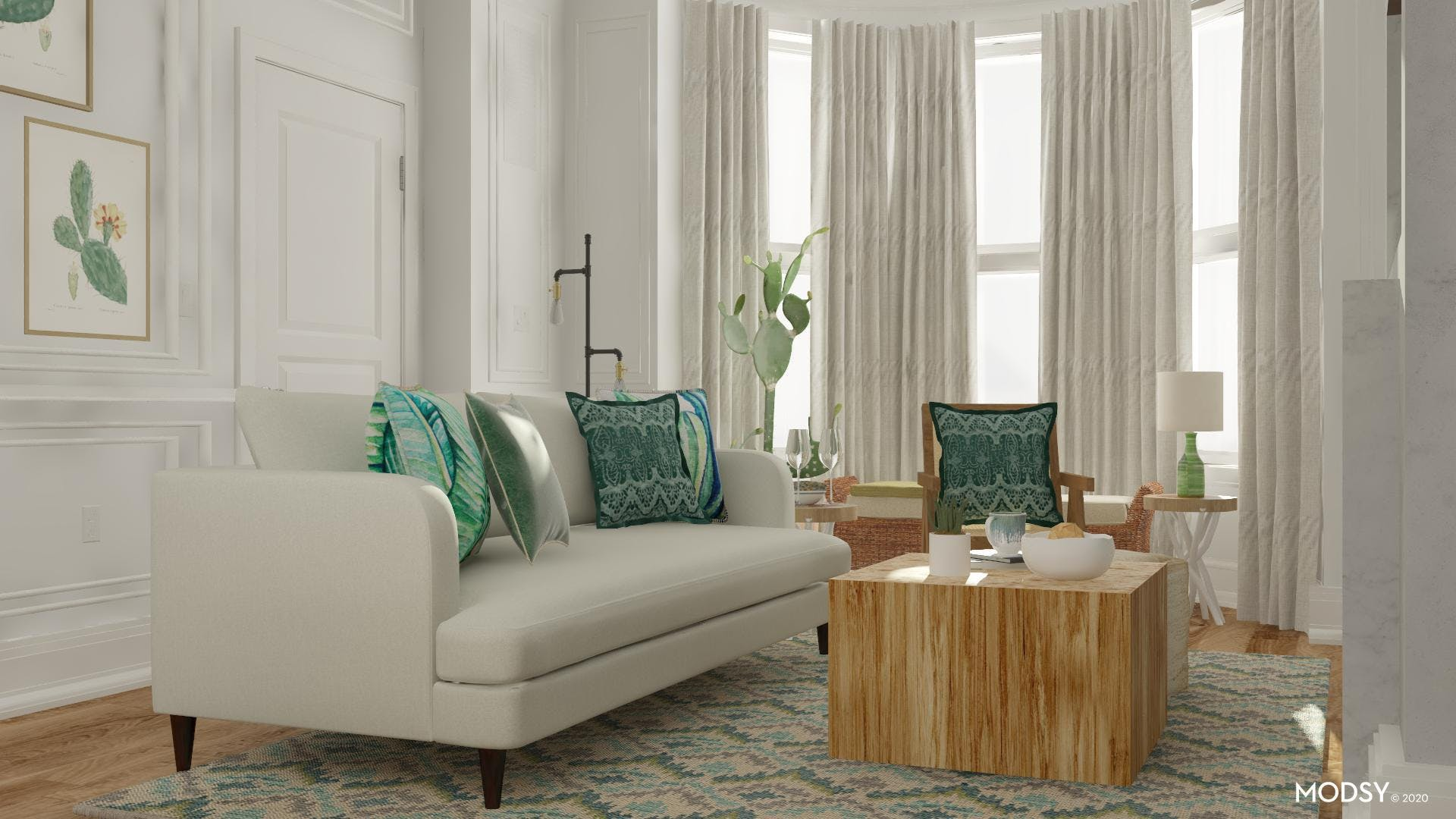 Lush Eclectic Living Room