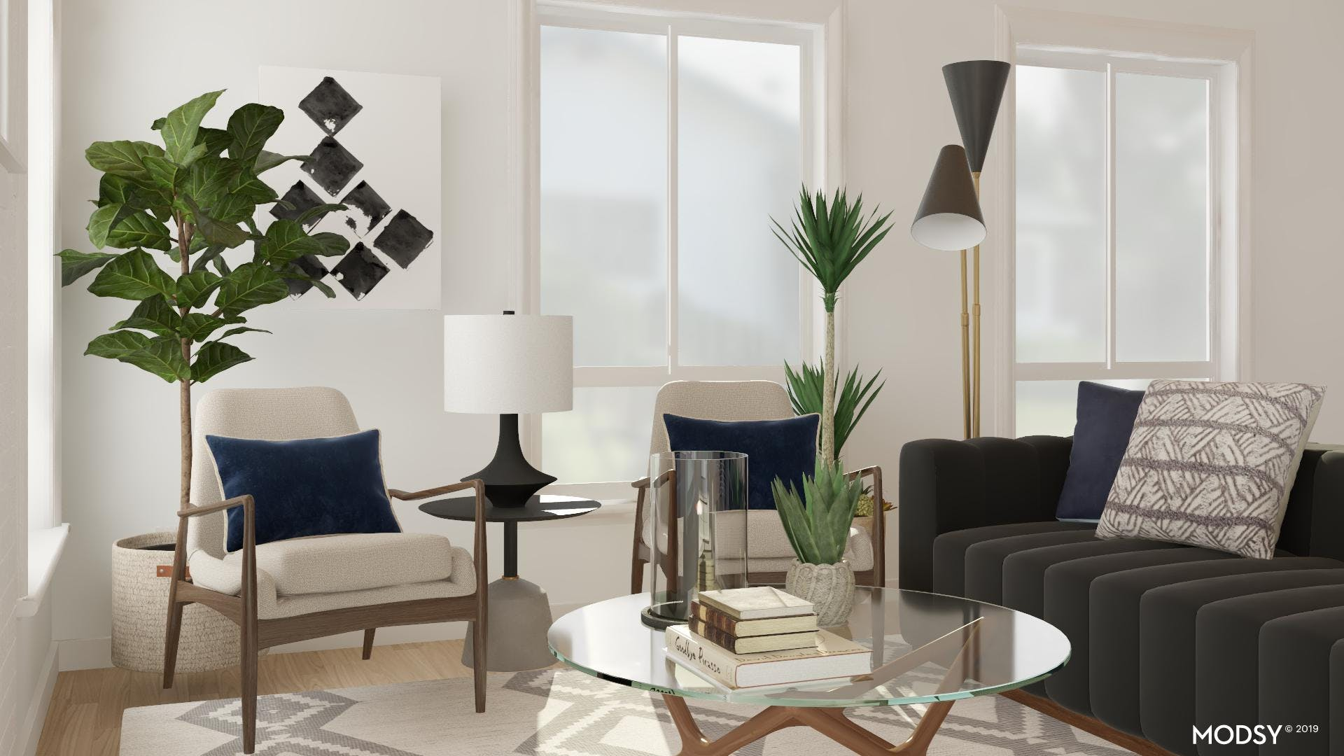 Mid Century Living in Black and White