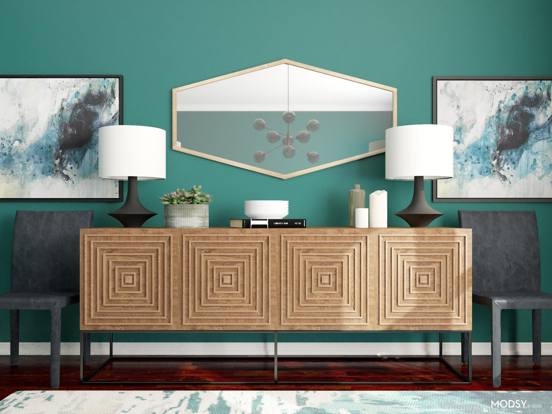 Feel With Color: Moody Dining