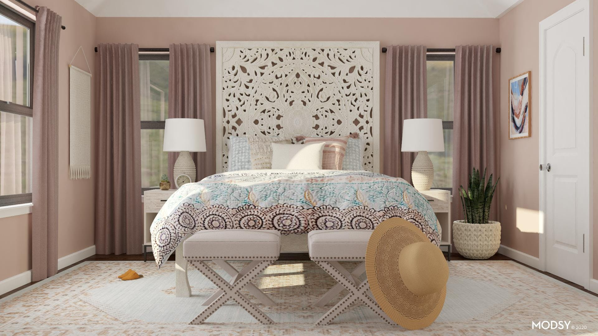 Pink Relaxation Bedroom