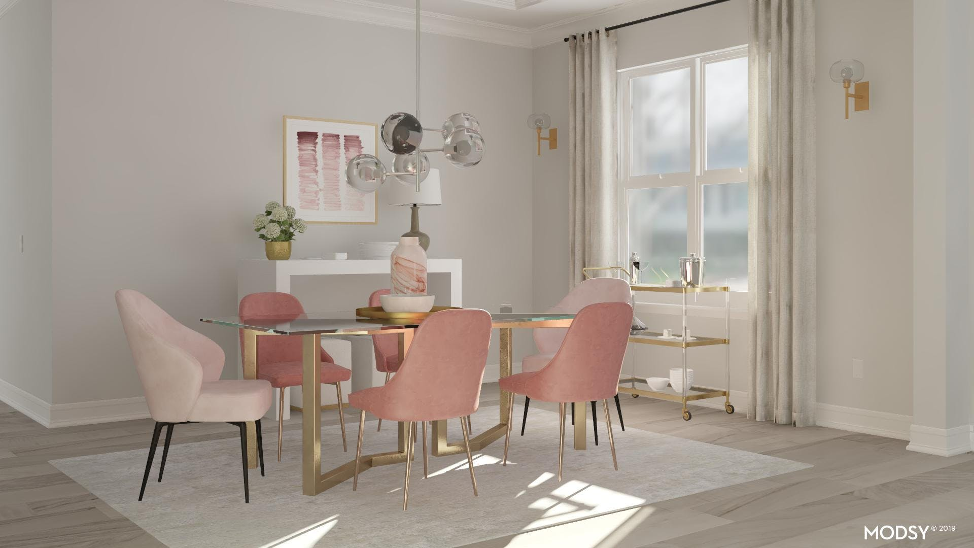 Perfect Pastel Dining Room