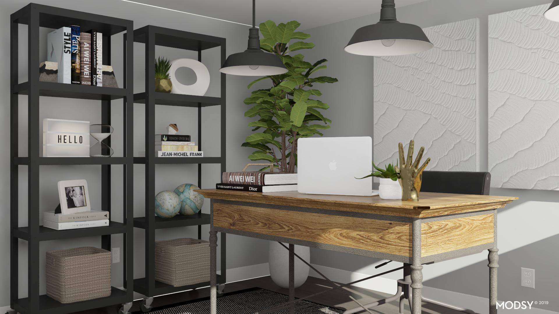 A Well Balanced Black & White Industrial Office