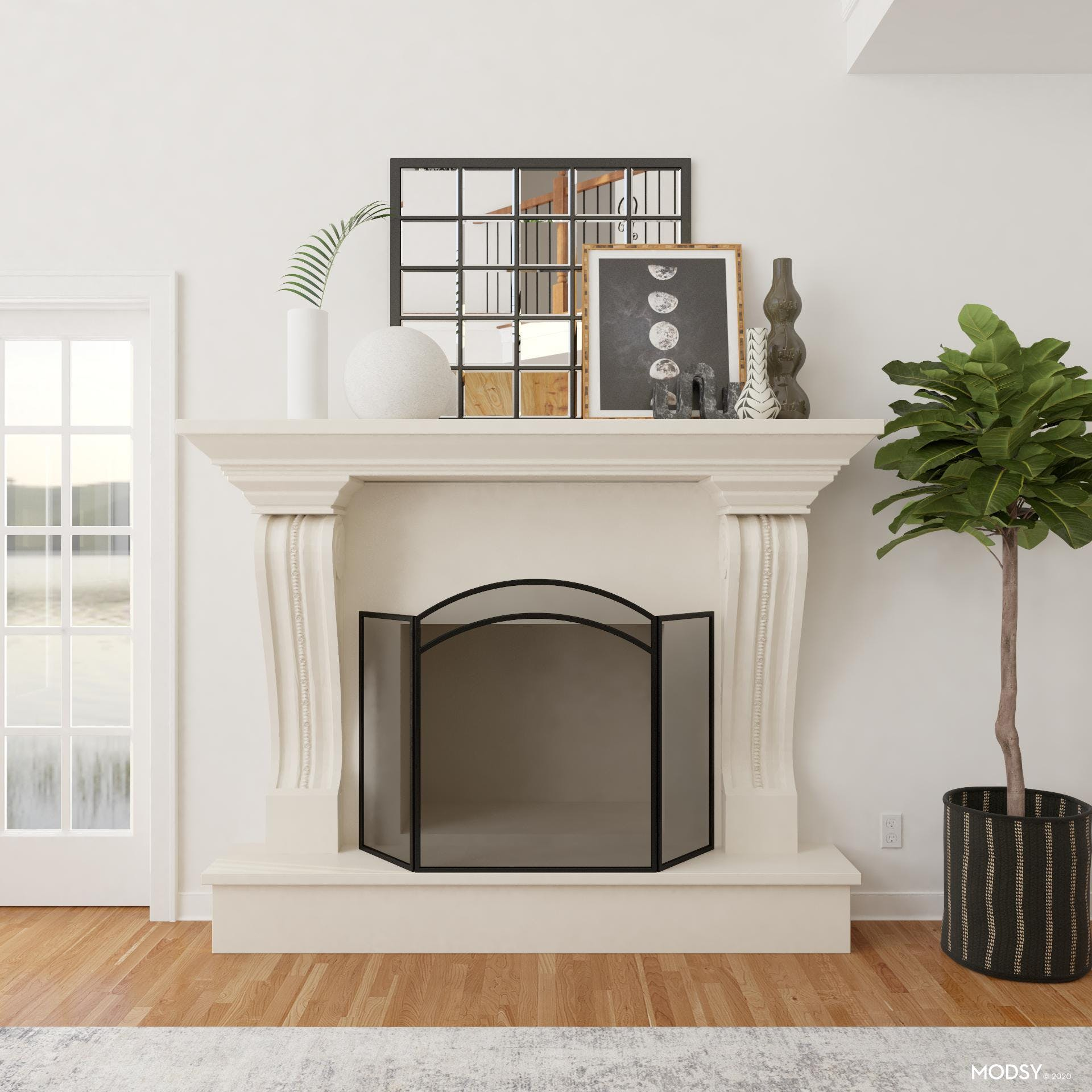 Fireplace Accents: Industrial
