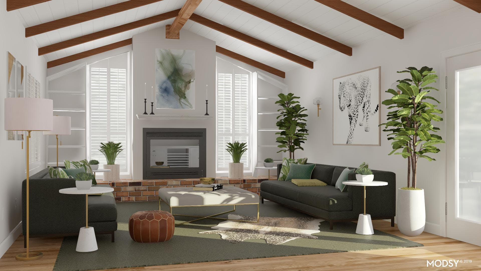 Gorgeous Green Living Room