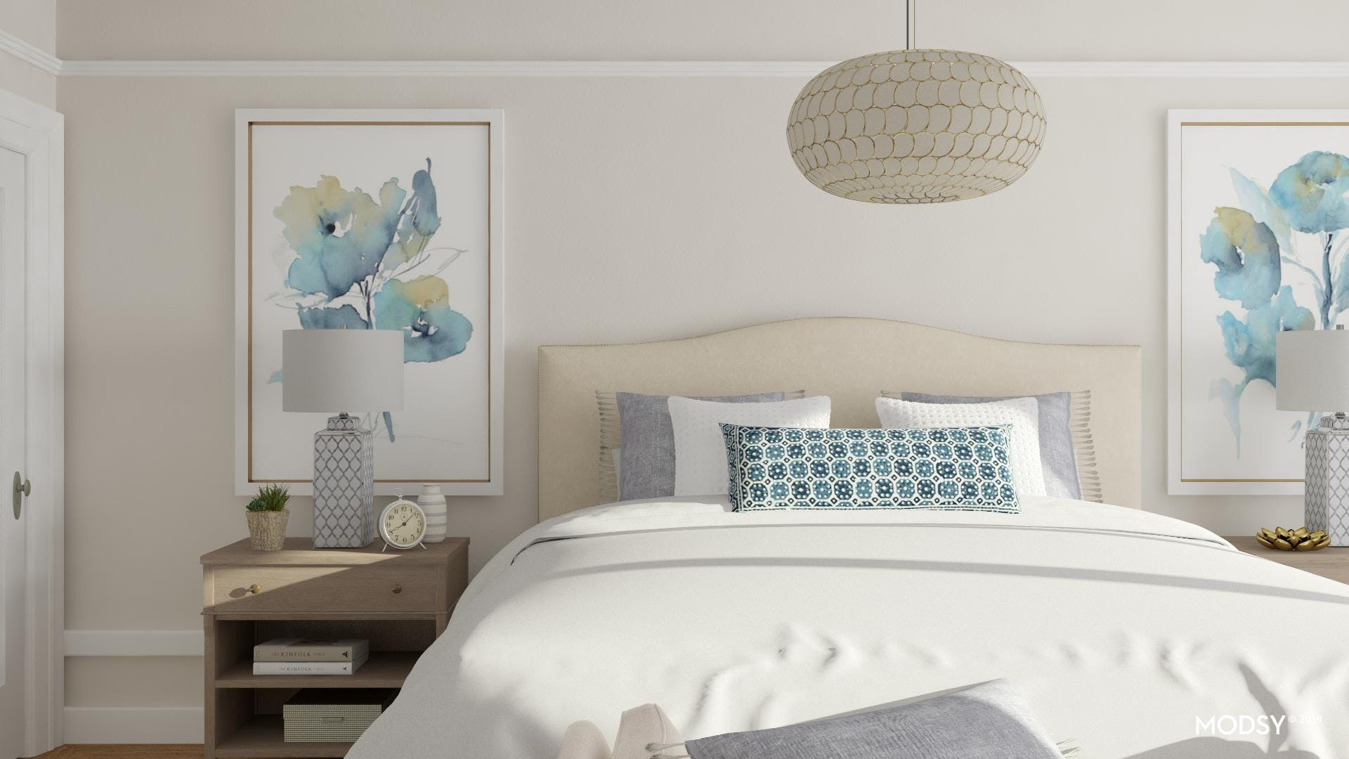 Contemporary Classic Bedroom Accents