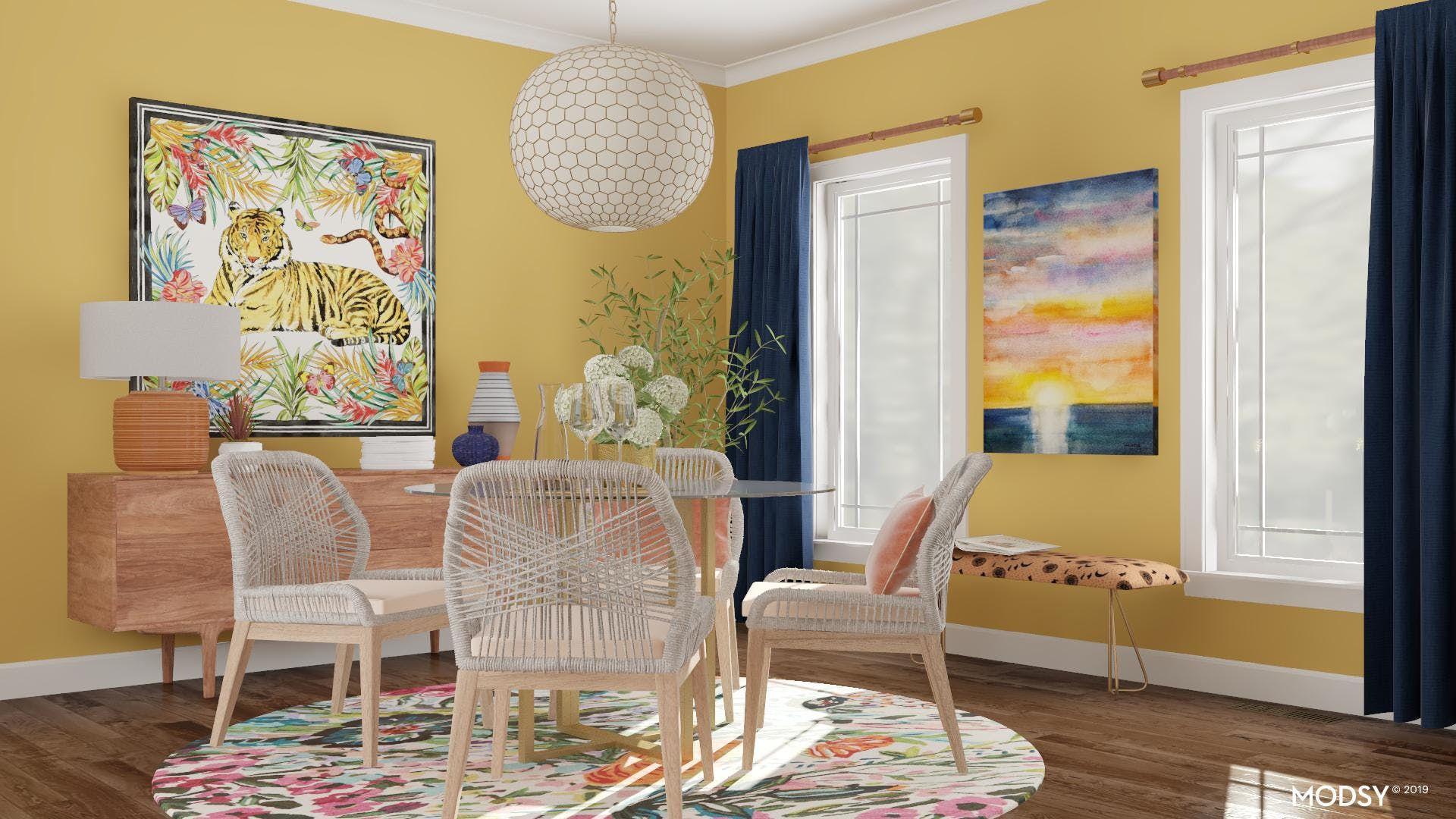 A Modern Dining Room Layout
