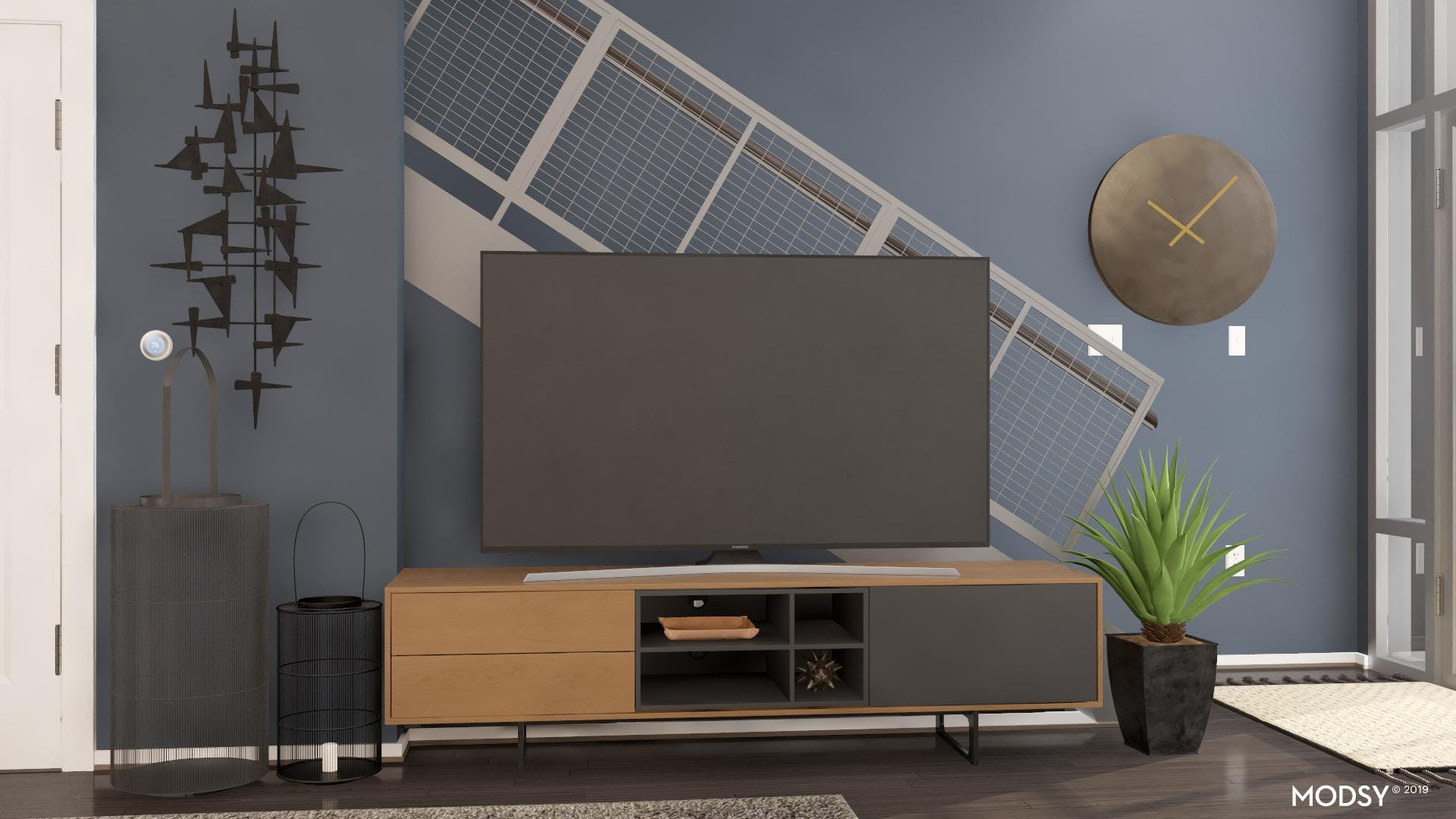Sprucing Up Your Television Area Industrial Style!