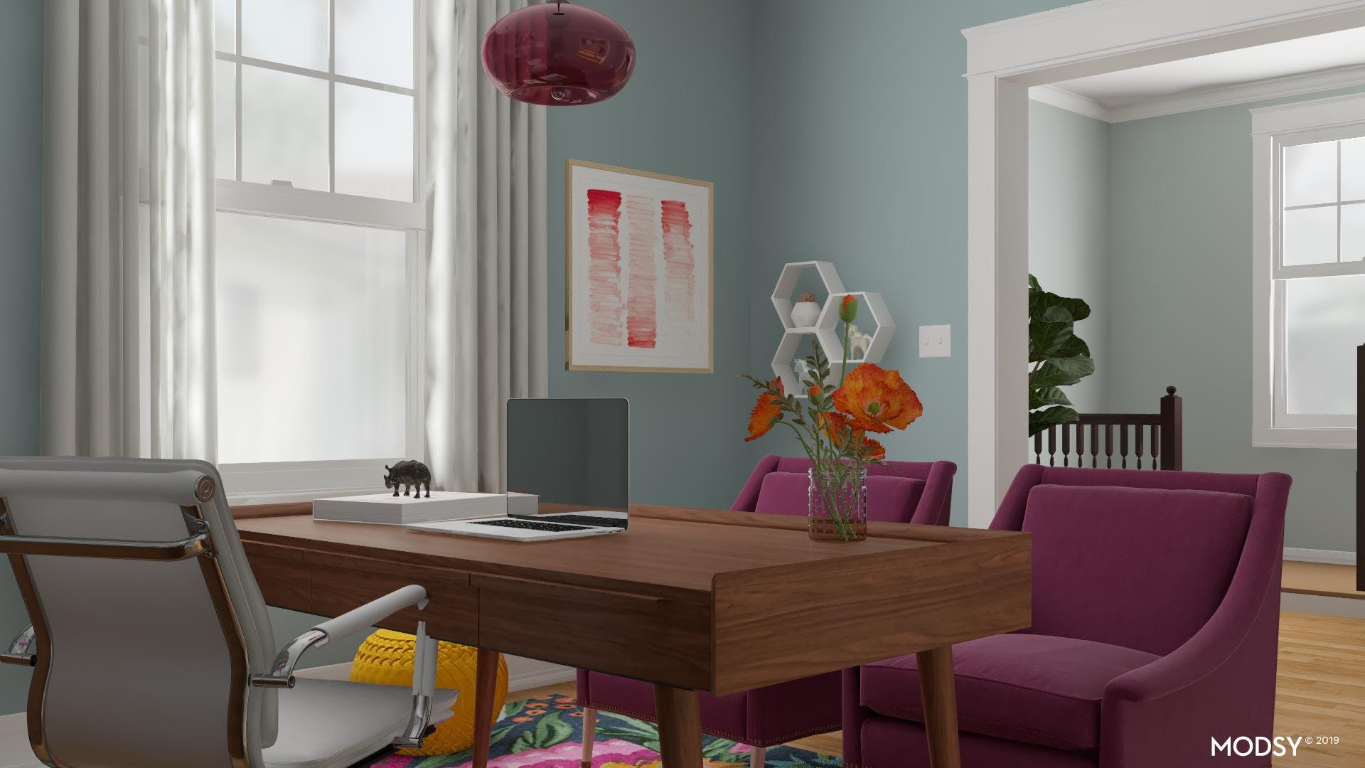 Mid Century Modern Meets Bold Colors