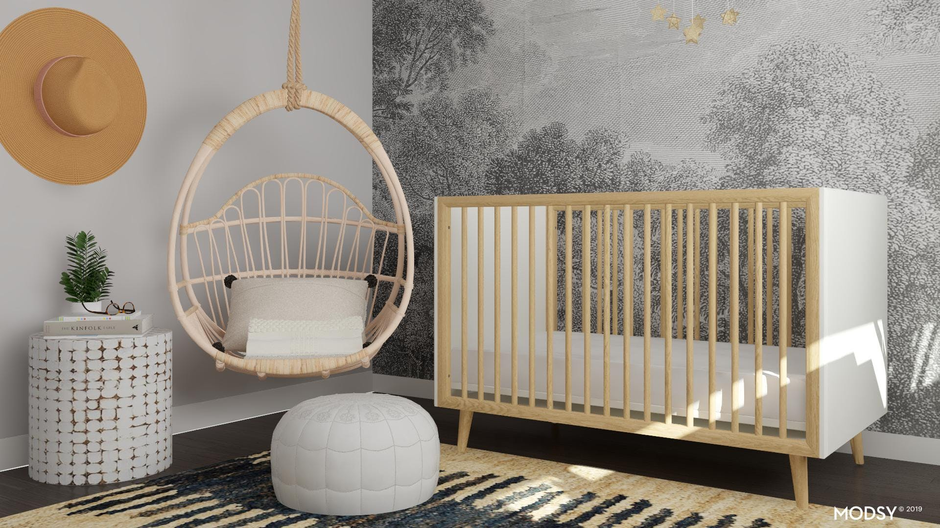Alternative Bohemian Nursery Design