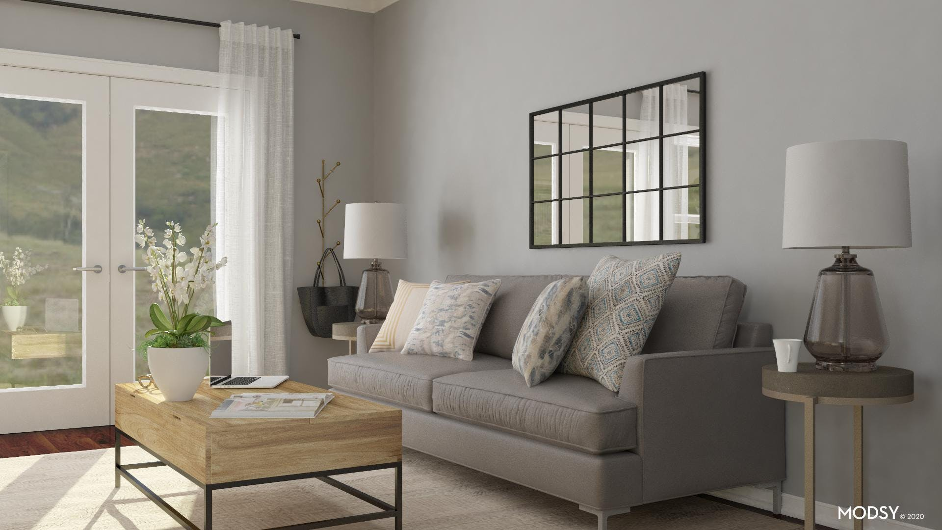 Pillows Soften: Industrial Style