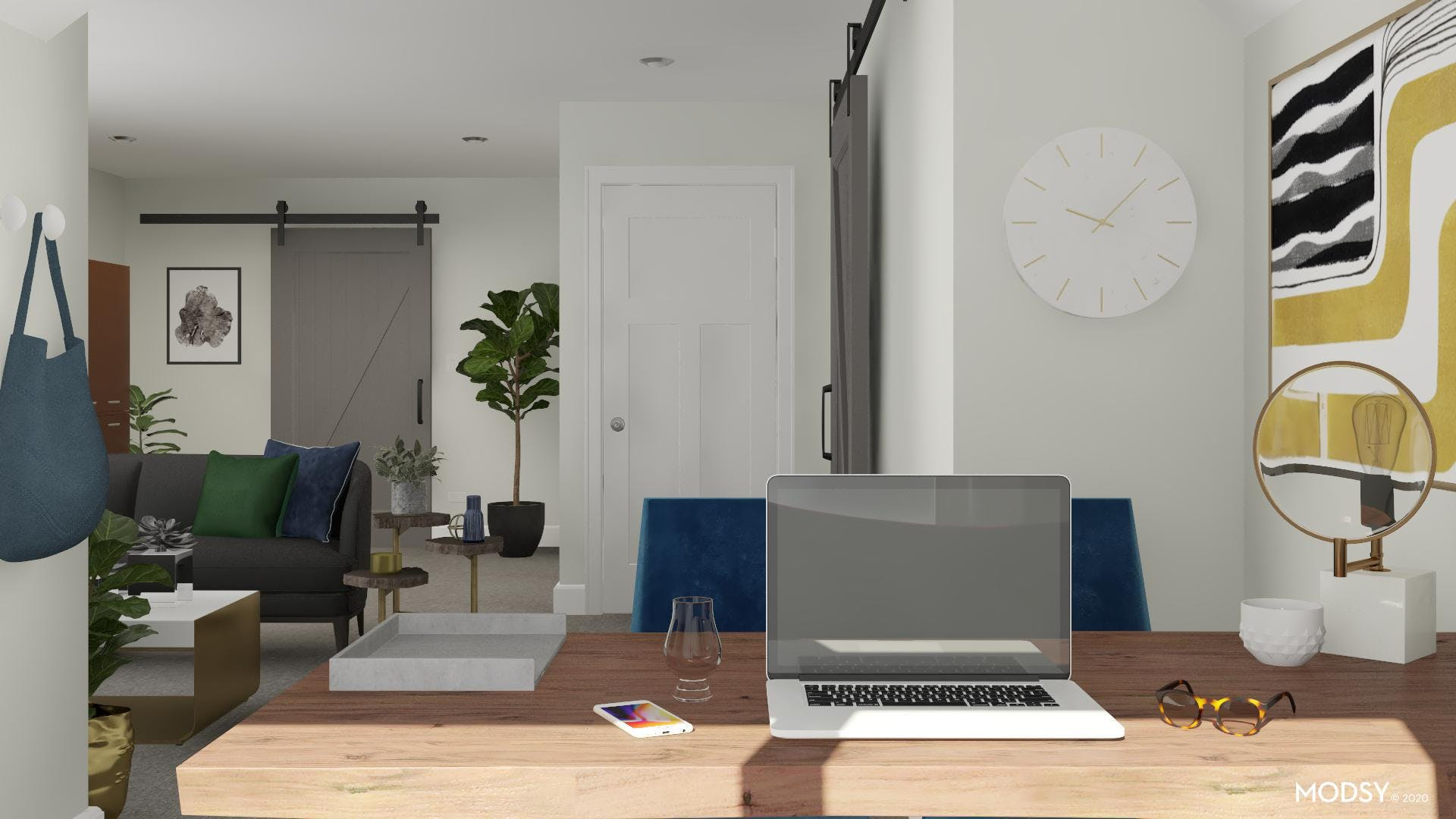 Modern View: Home Office