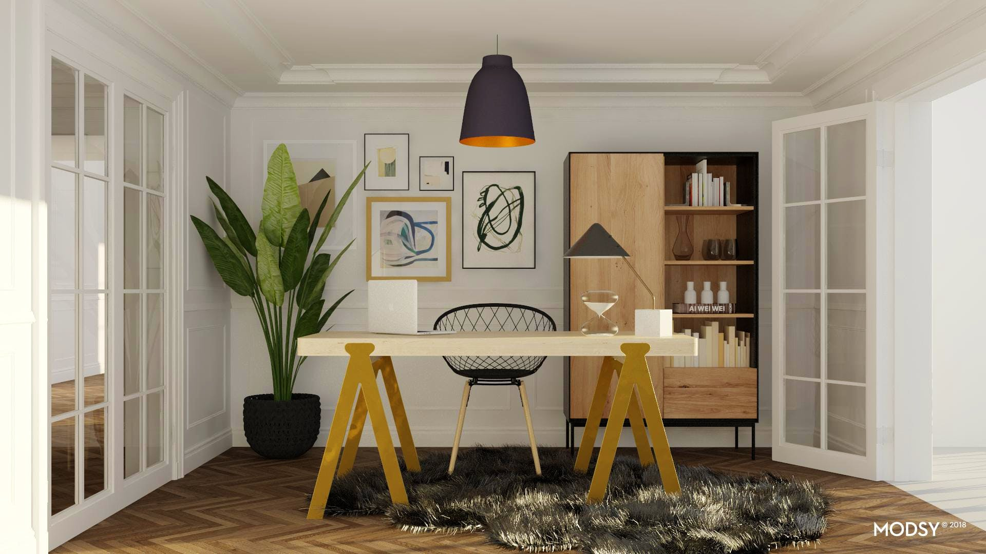 A Modern And Glam Home Office