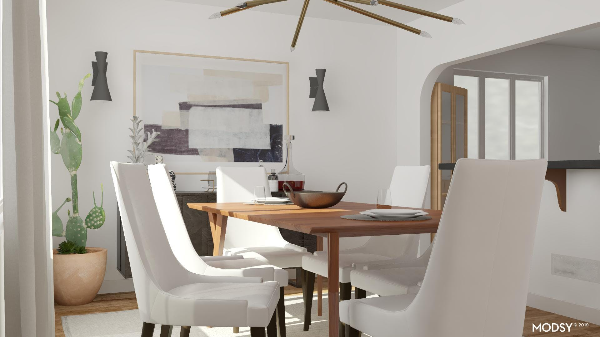 A Simply Cool Modern Dining Room