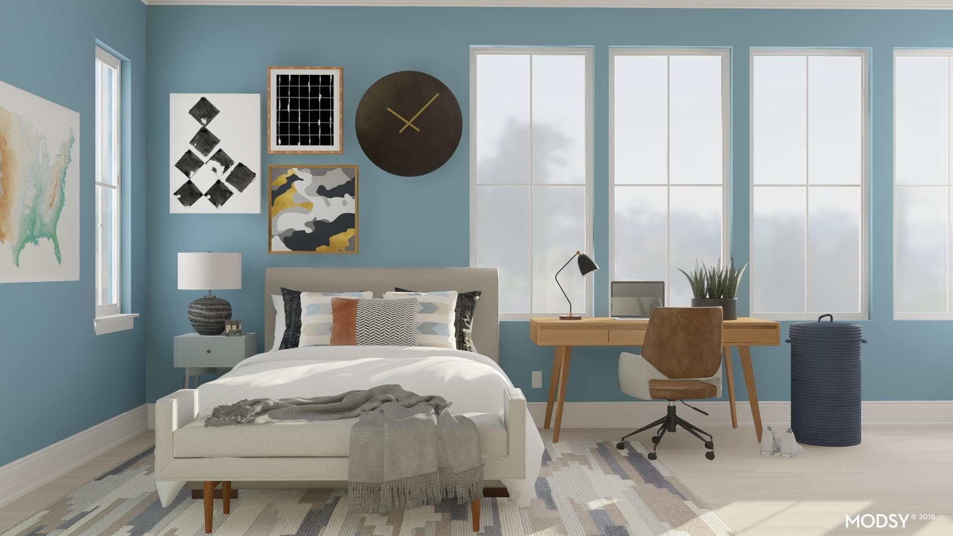 Blue Bedroom For The Laid-Back Teen