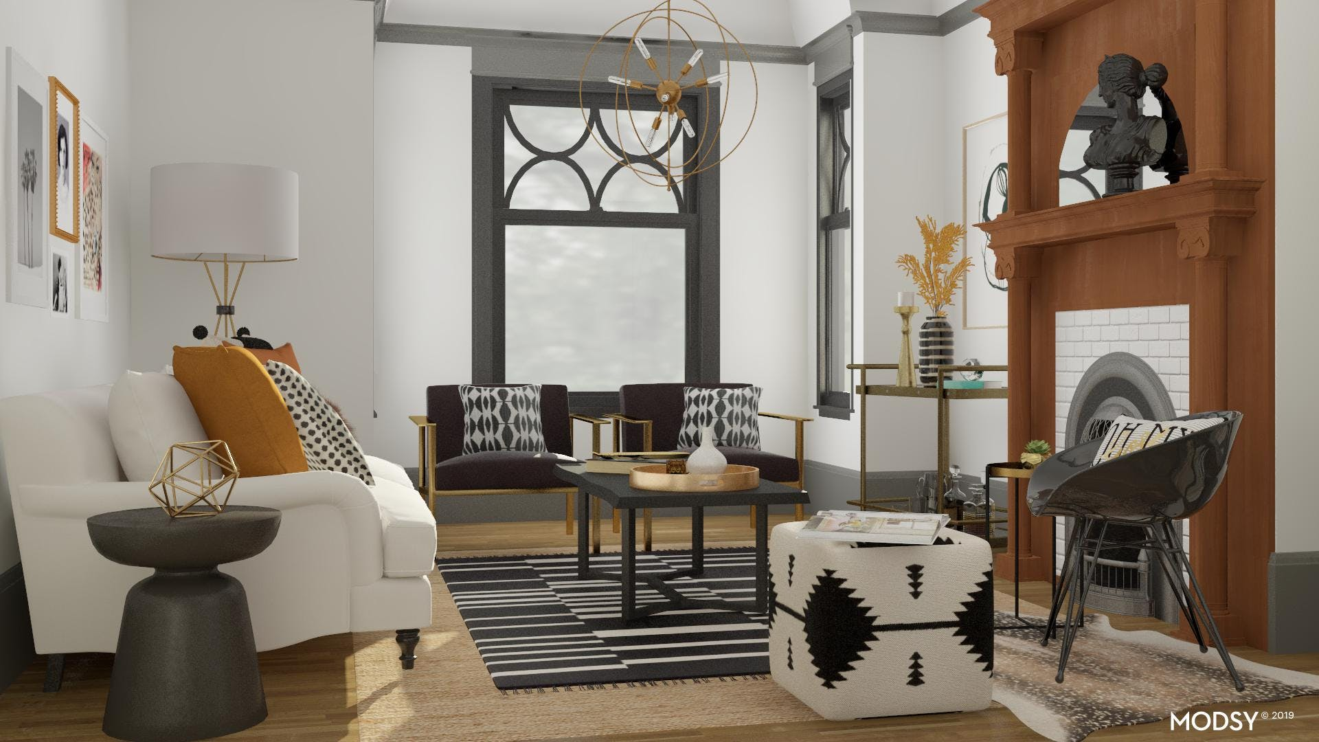 Bold Neutral Chic Living Room