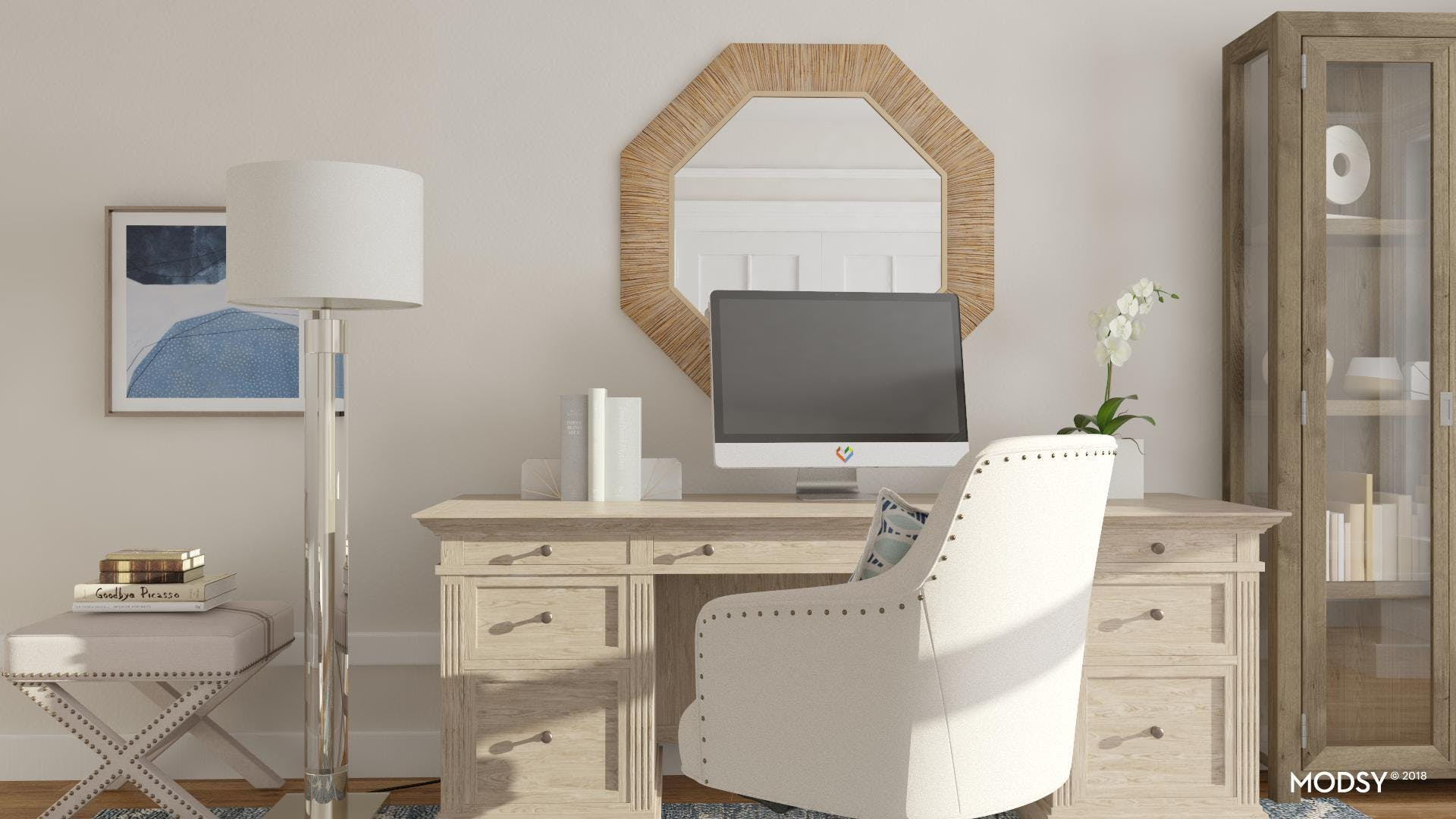 Mixing Classic Details In A Contemporary Office
