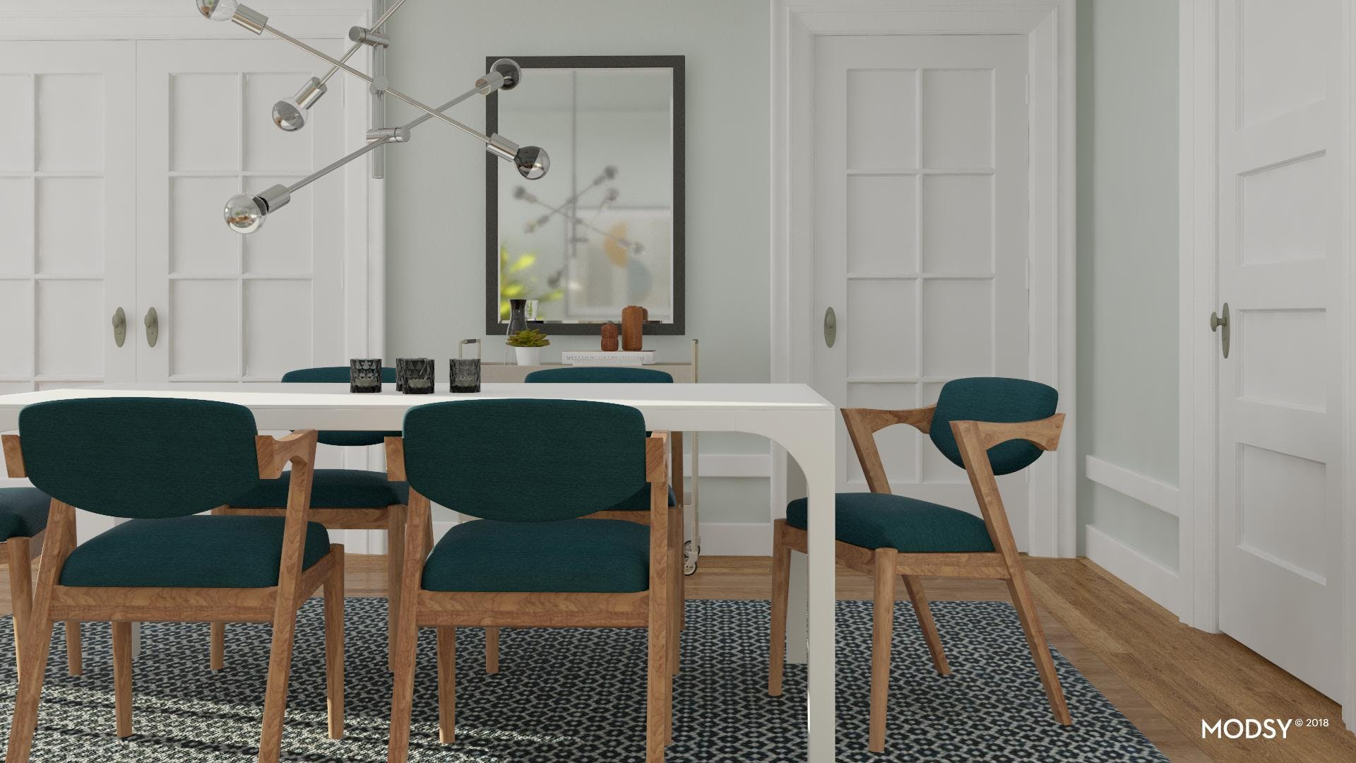 Mid-Century Meets Contemporary Dining Room
