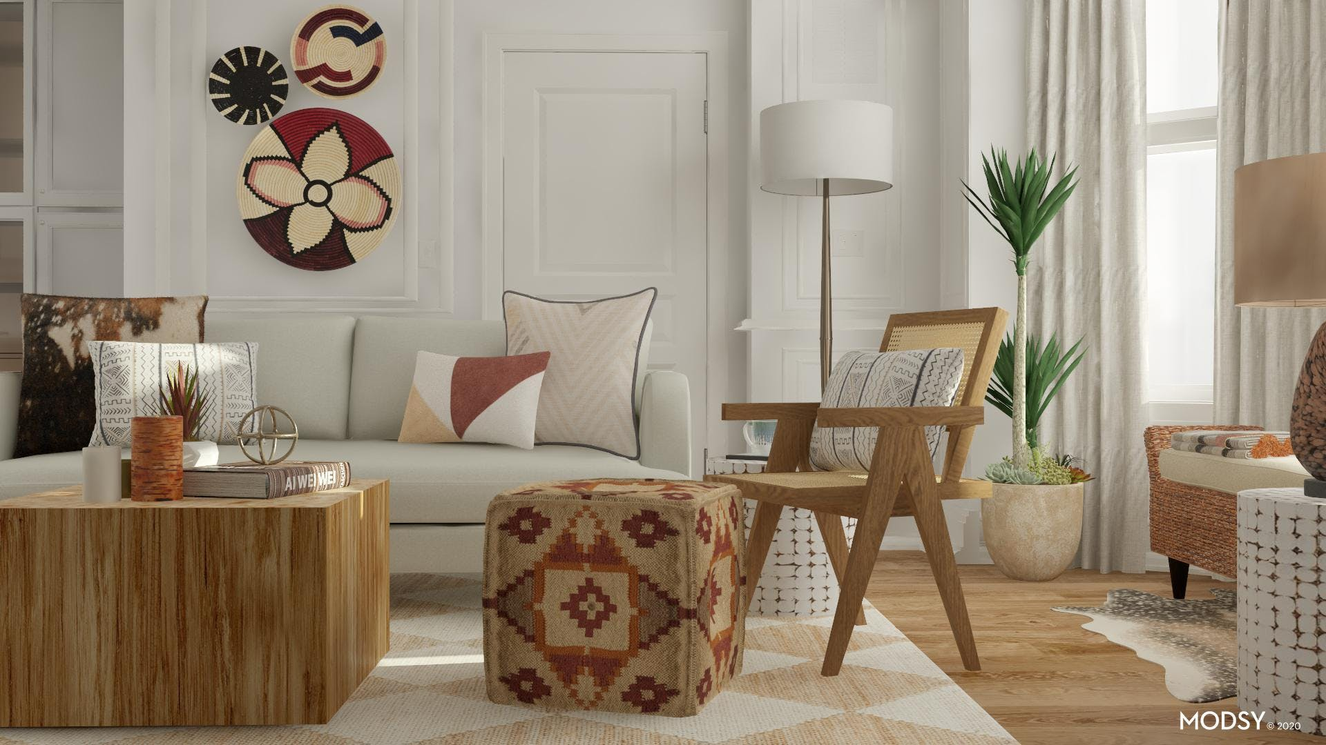 Eclectic Patterns Meet Earth-Toned Living