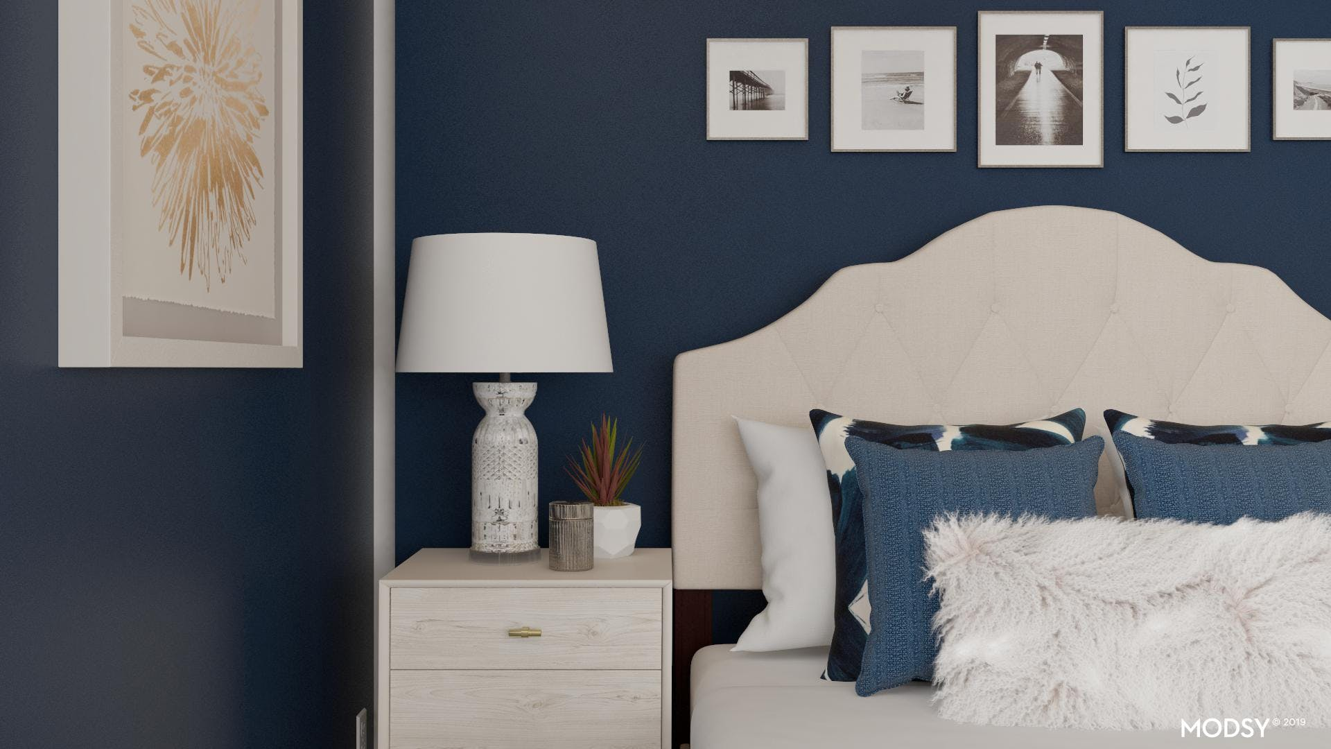 Chic Bedroom with Details