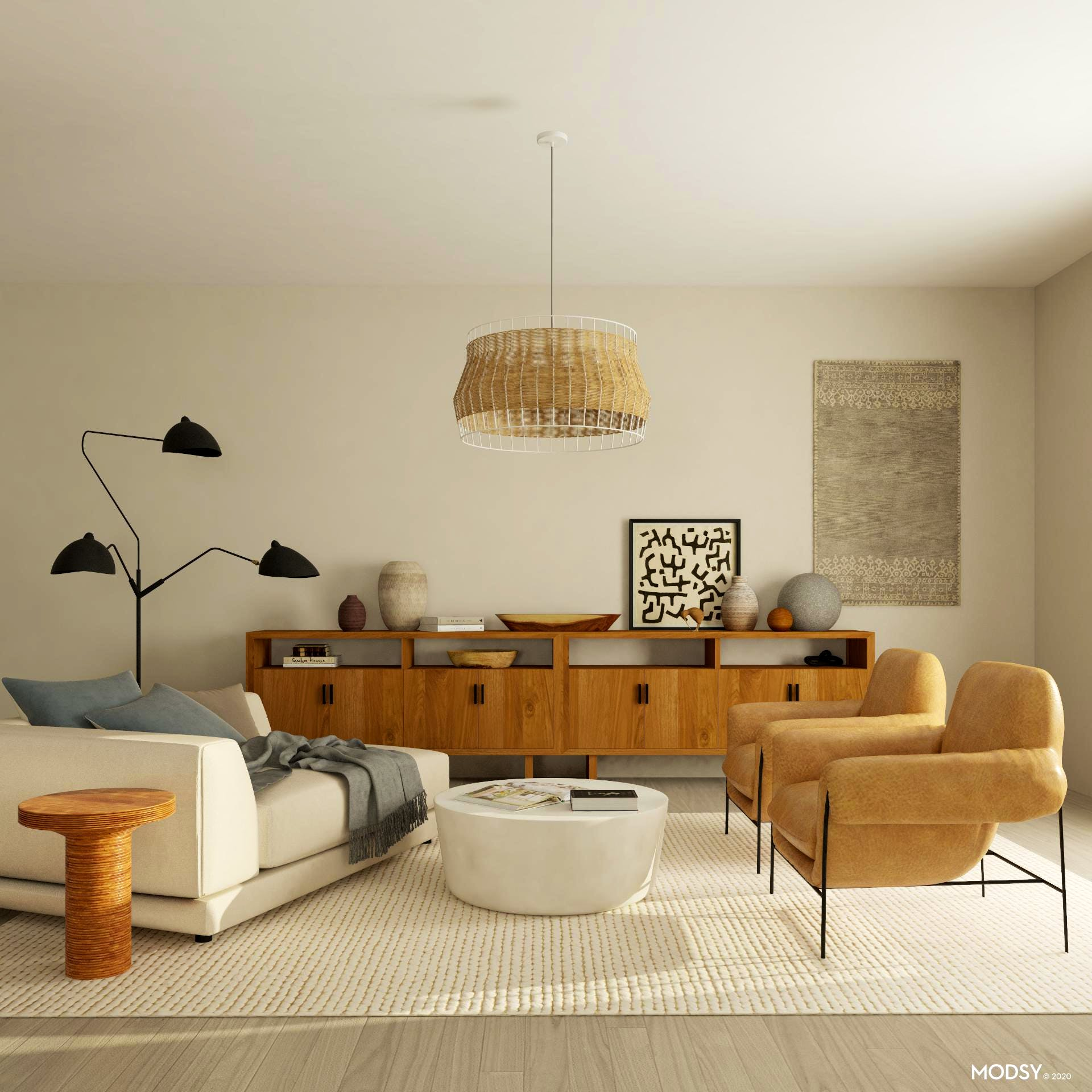 Organic Modernism Trend: Living Room