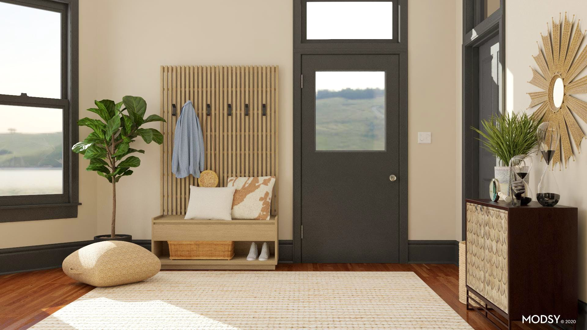 Open & Airy Pet Friendly Entryway