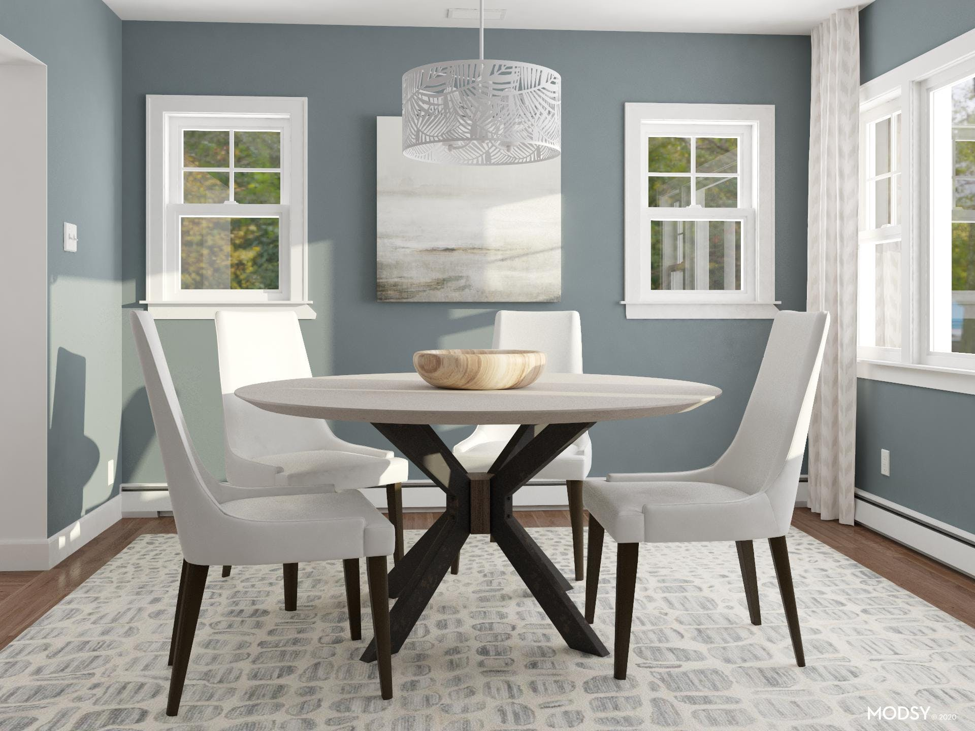 High Contrast is The New Subtle Transitional Dining Room