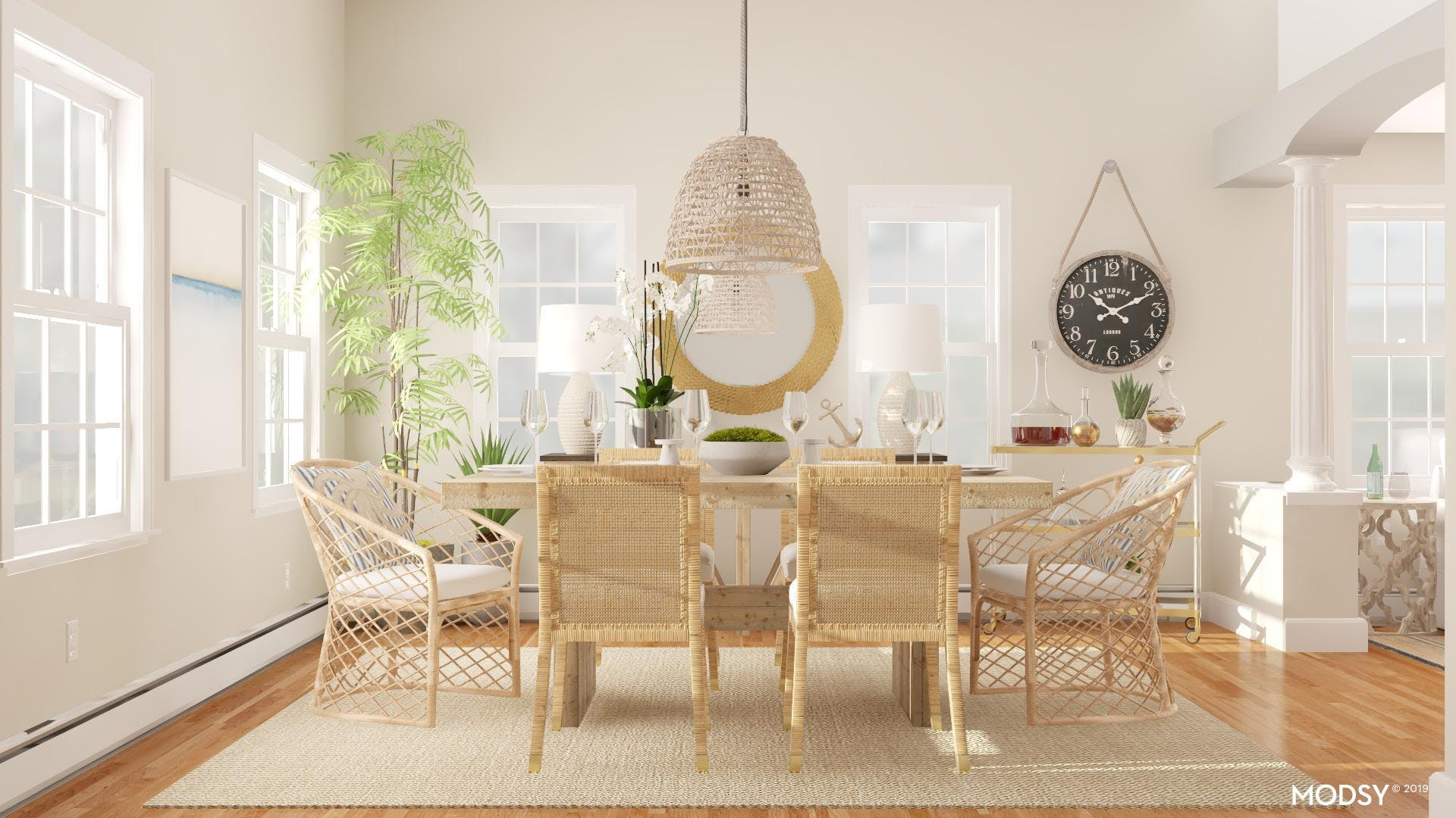 Neutral Dining by the Coast