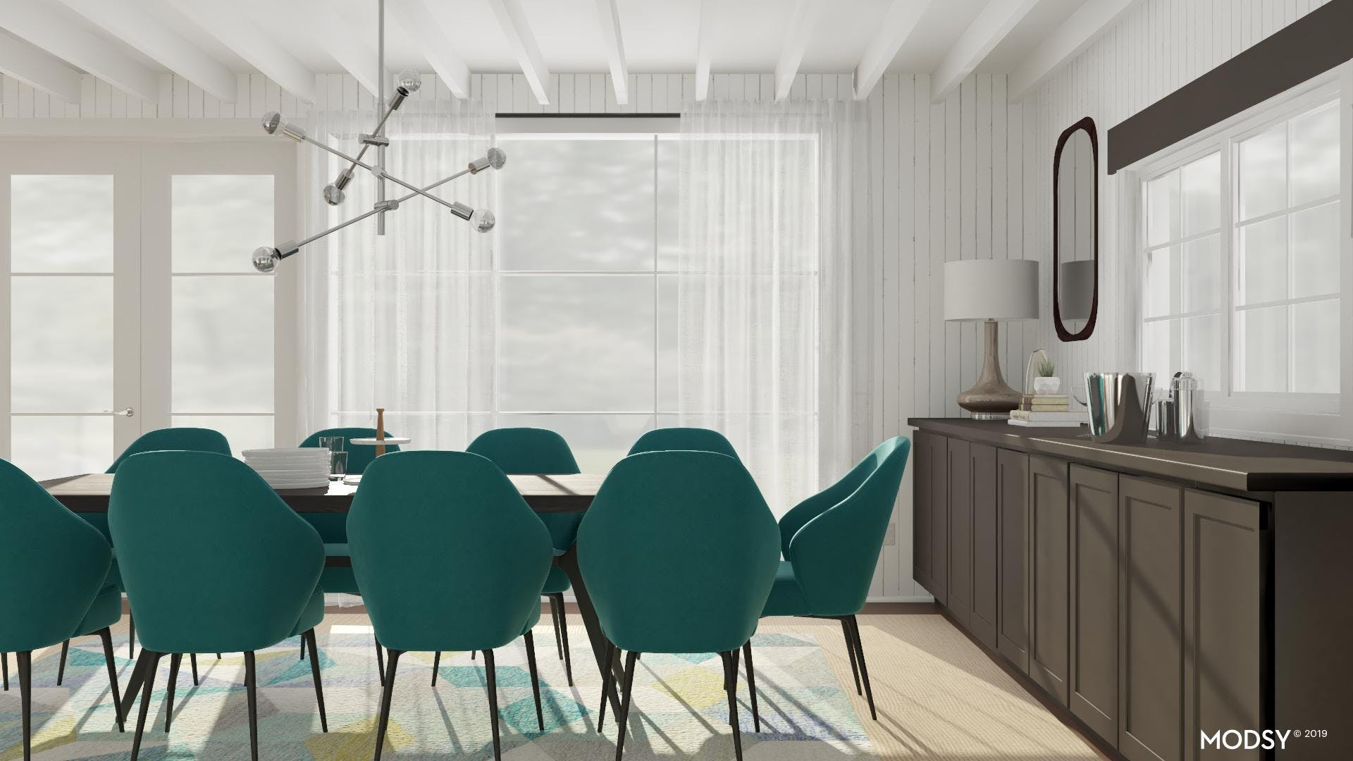 Clean Lines with a Pop of Green