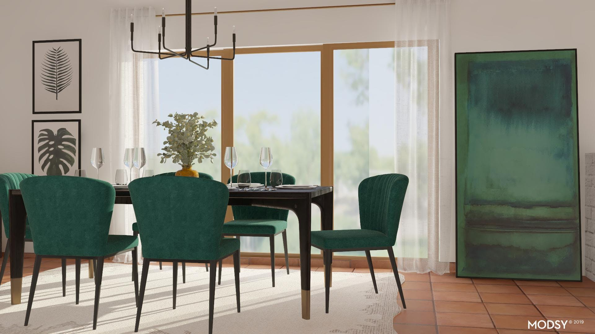 Details That Soften: Contemporary Dining
