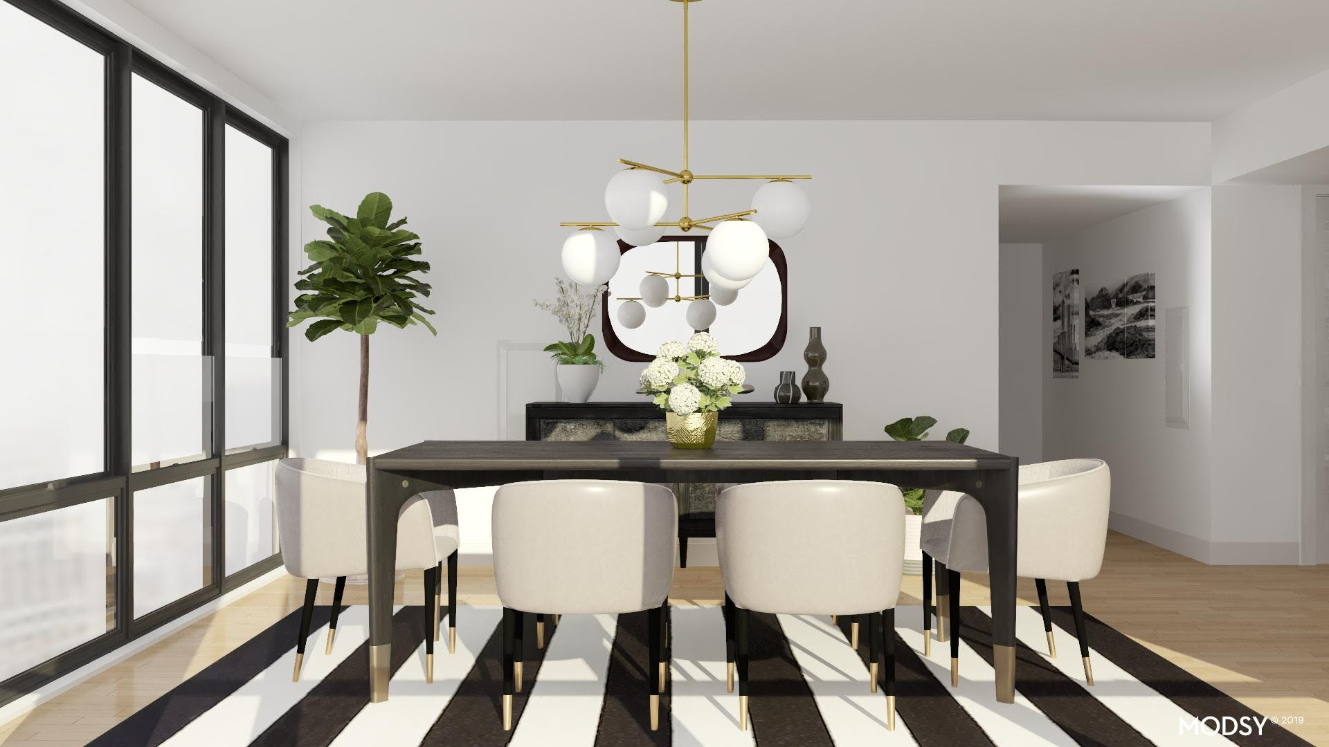 Mid-Century Black and White Done Right