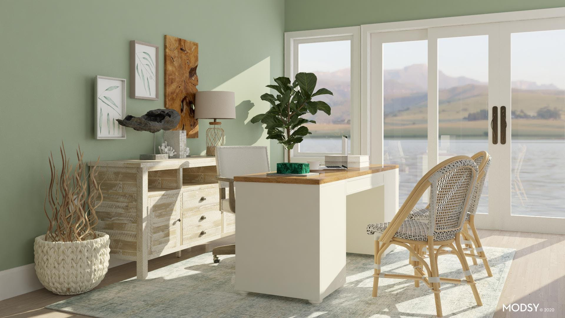 Touch of Green: Coastal Office
