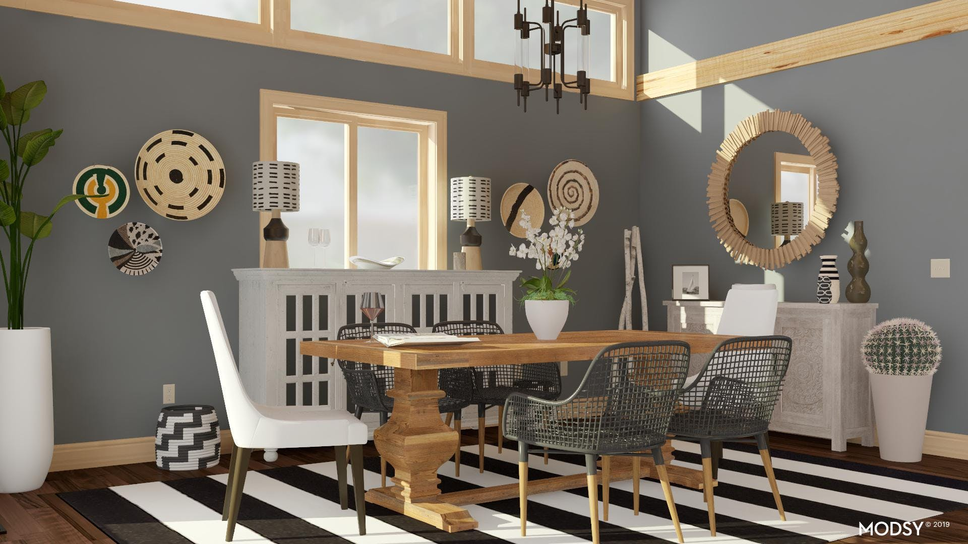 Bold Dining in Black and White