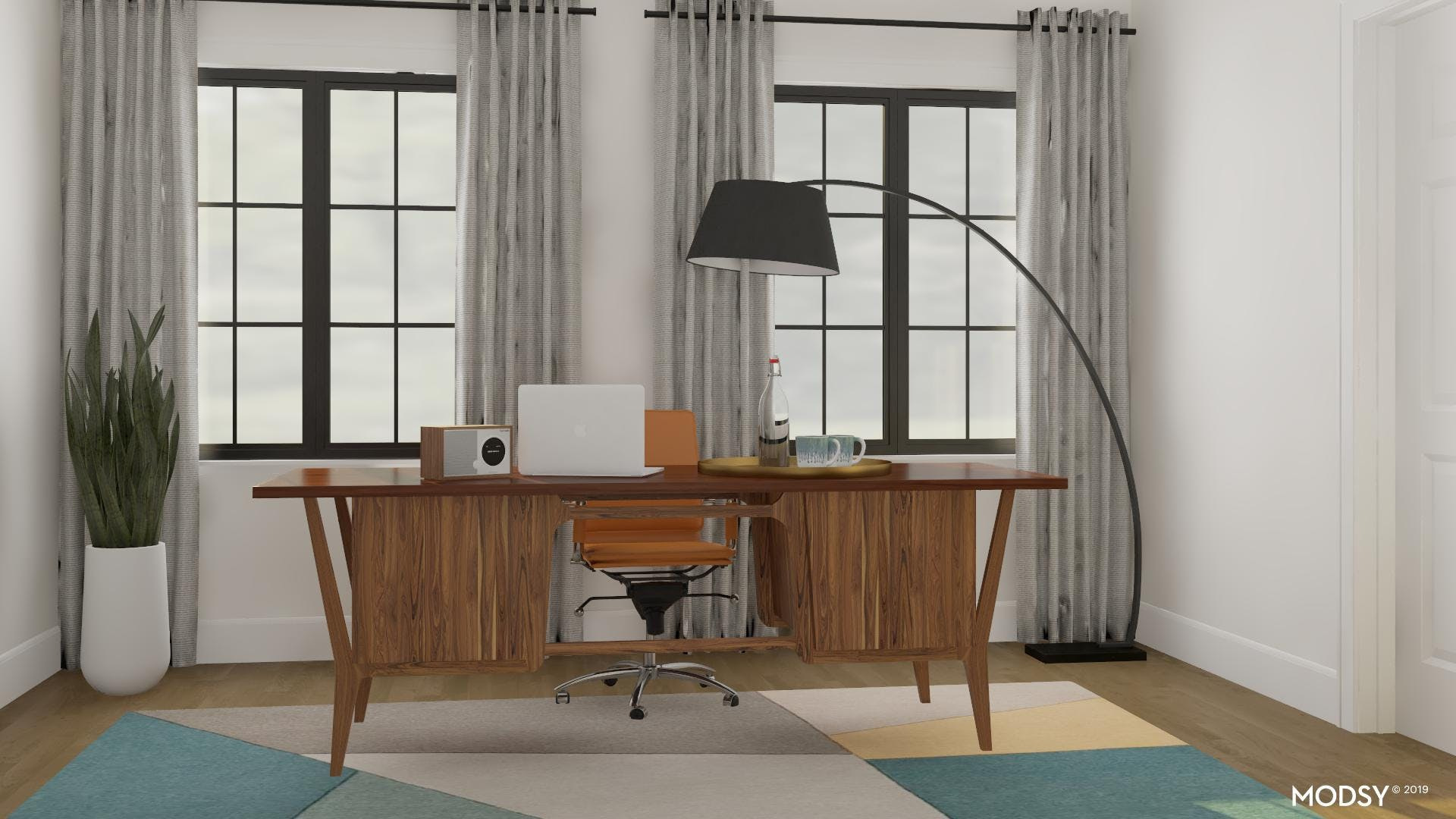 Adding Pops Of Color To Your Masculine Office