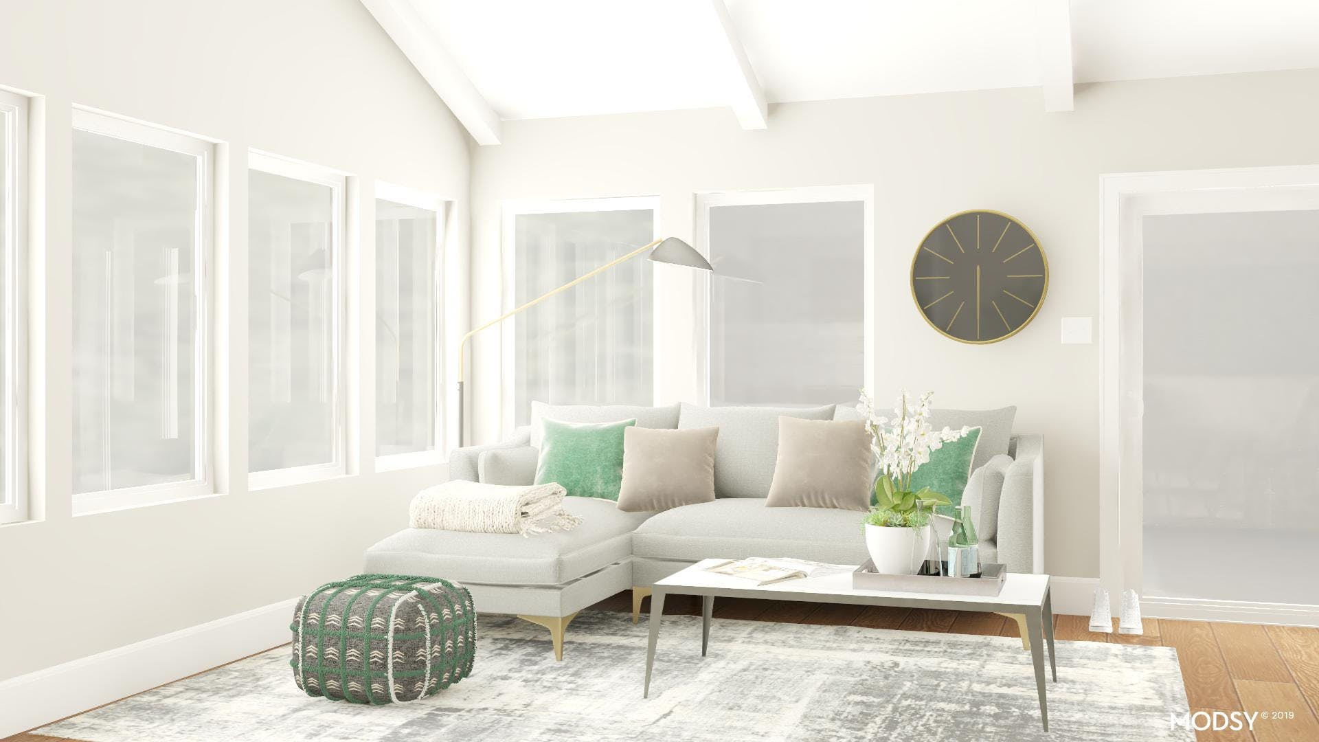 Less Is More With the Right Lighting and Pillows Galore