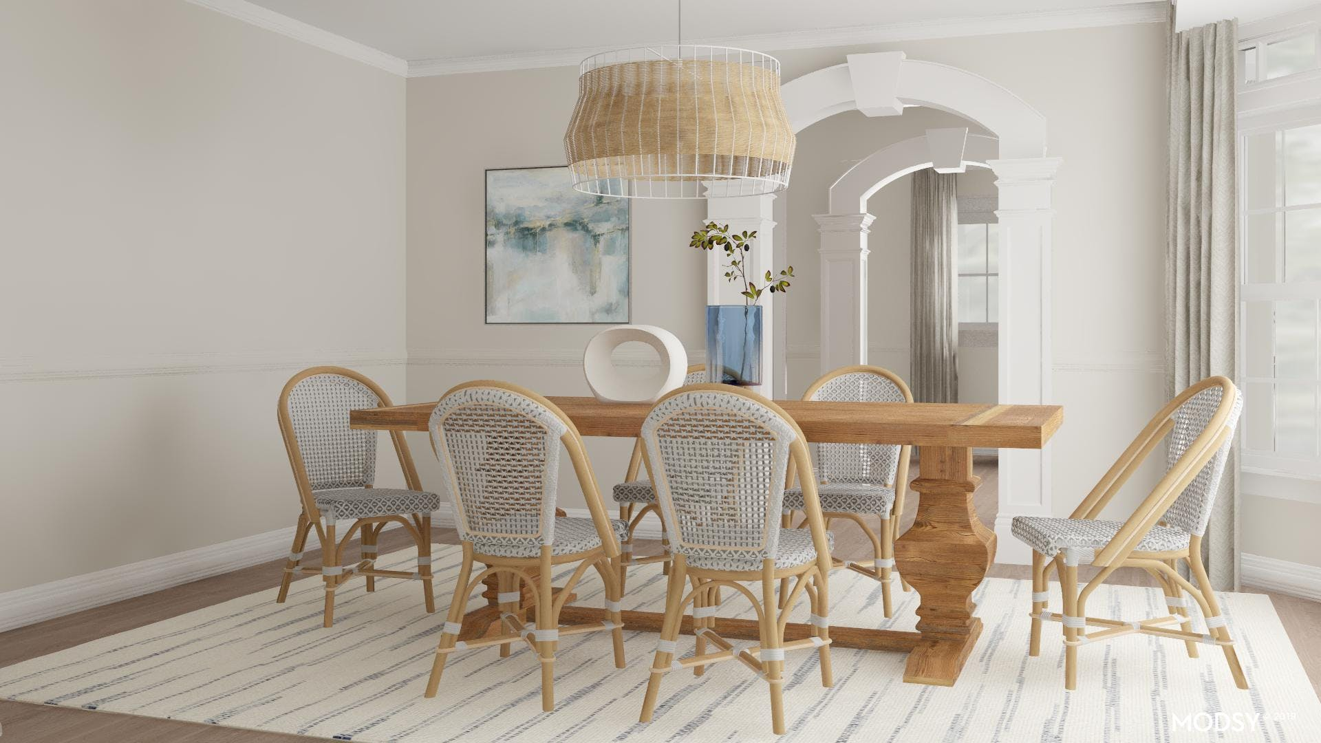 Casual French Bistro Style Dining Room