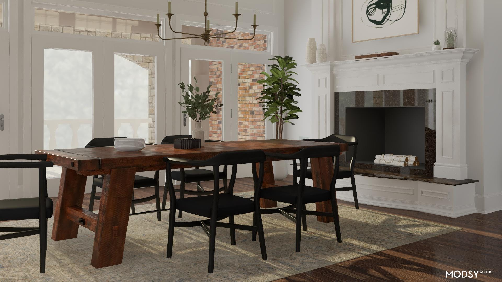 Elegant and Calming Dining