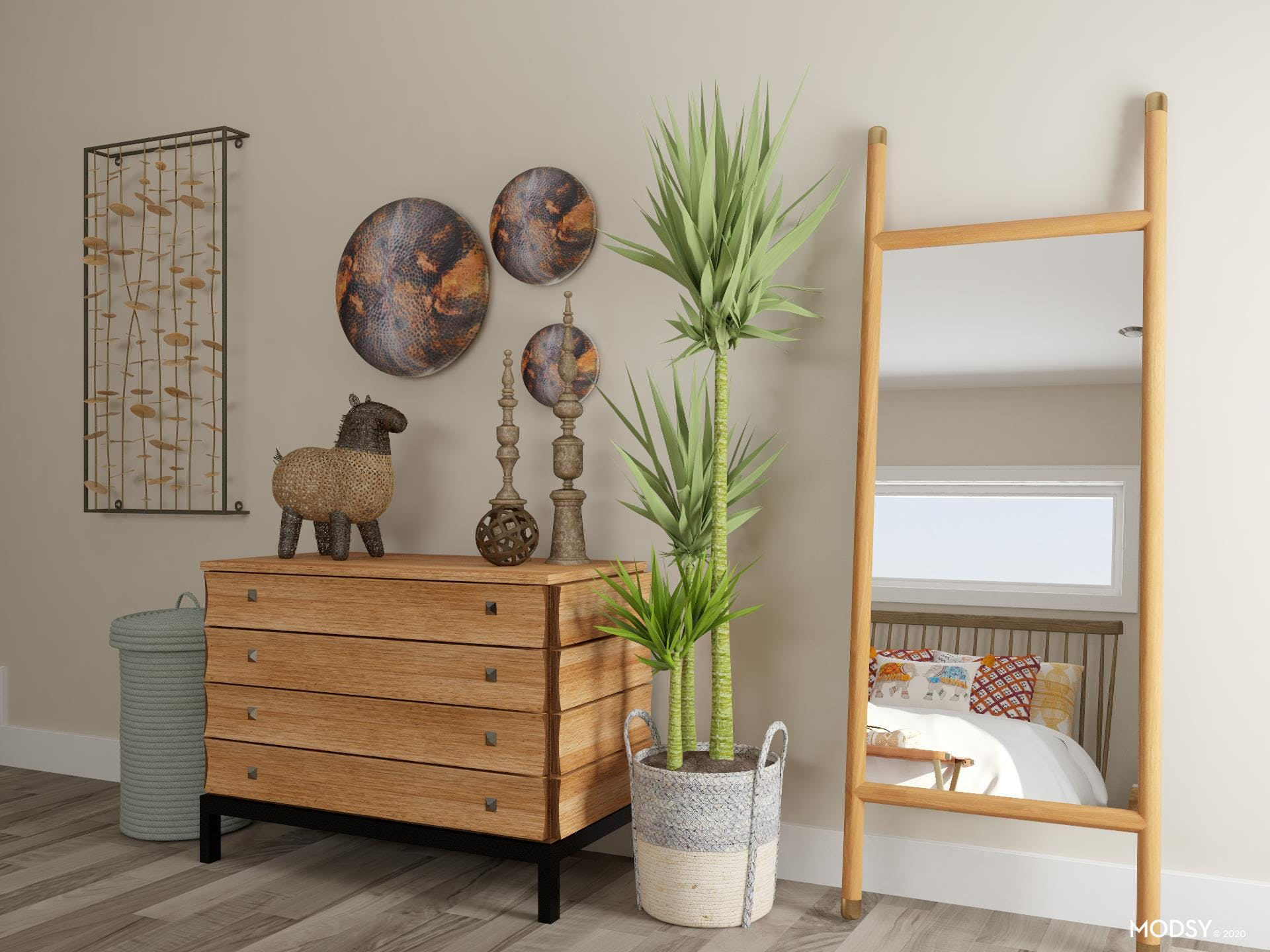 Worldly Influences: Eclectic Bedroom