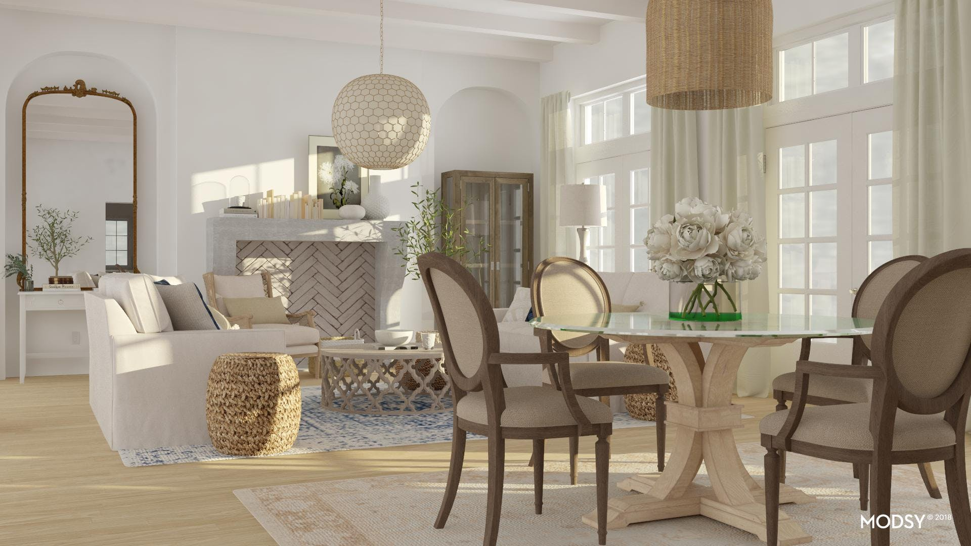 Open Dining Space With Rustic Elegance