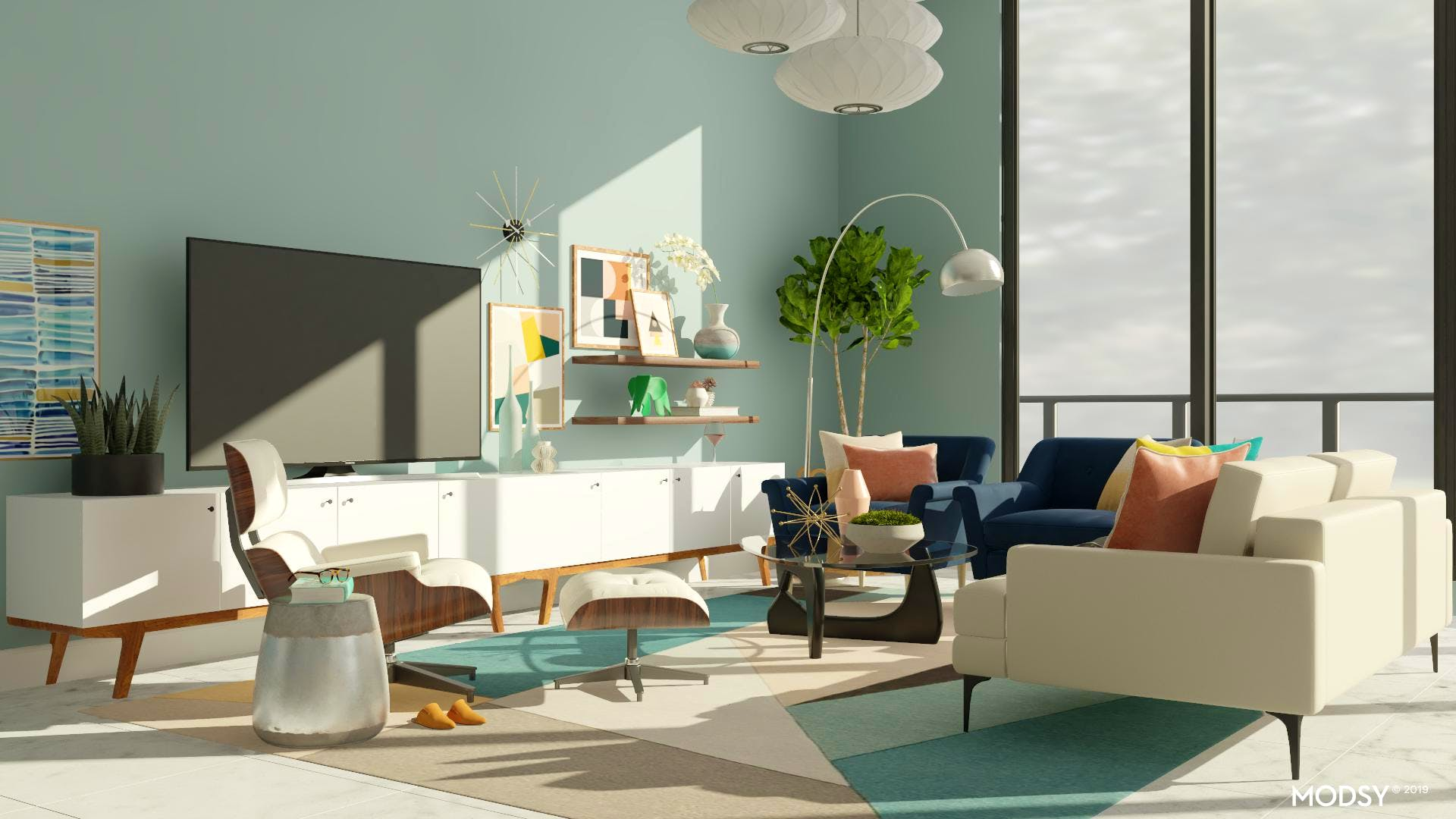 Eames Lounge Chair Living Room eames lounge chair design ideas and styles from modsy designers