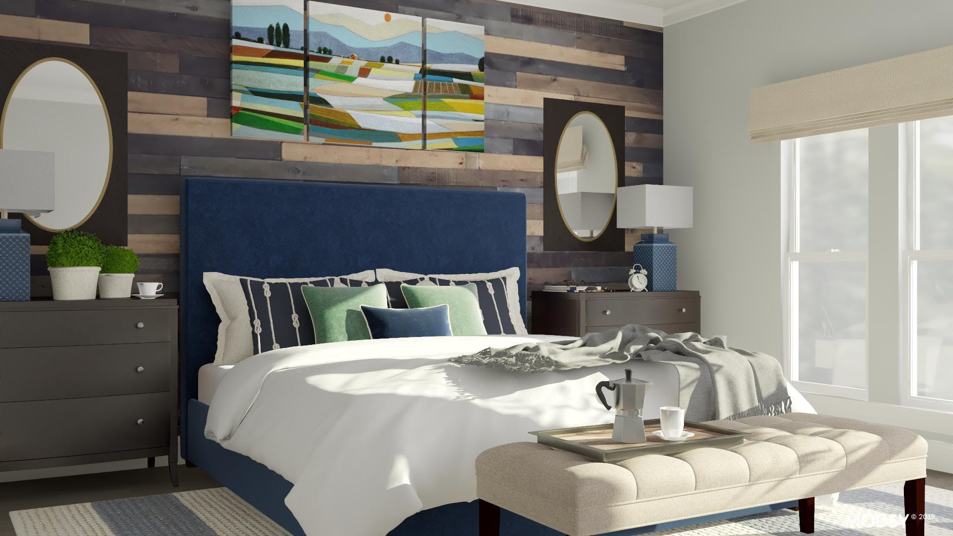 Bold And Cheerful Traditional Bedroom