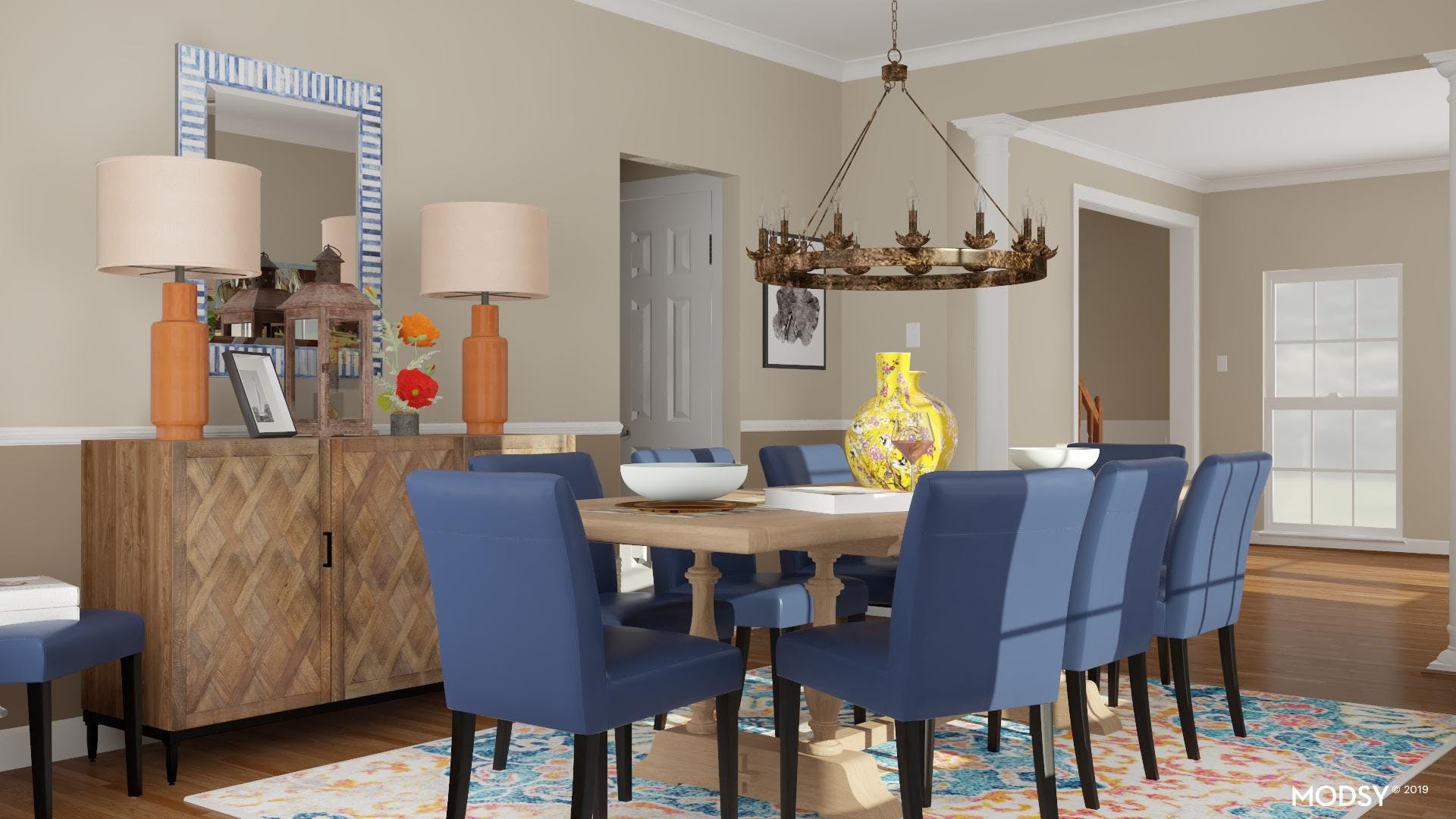 Complementary Schemes: Rustic Dining
