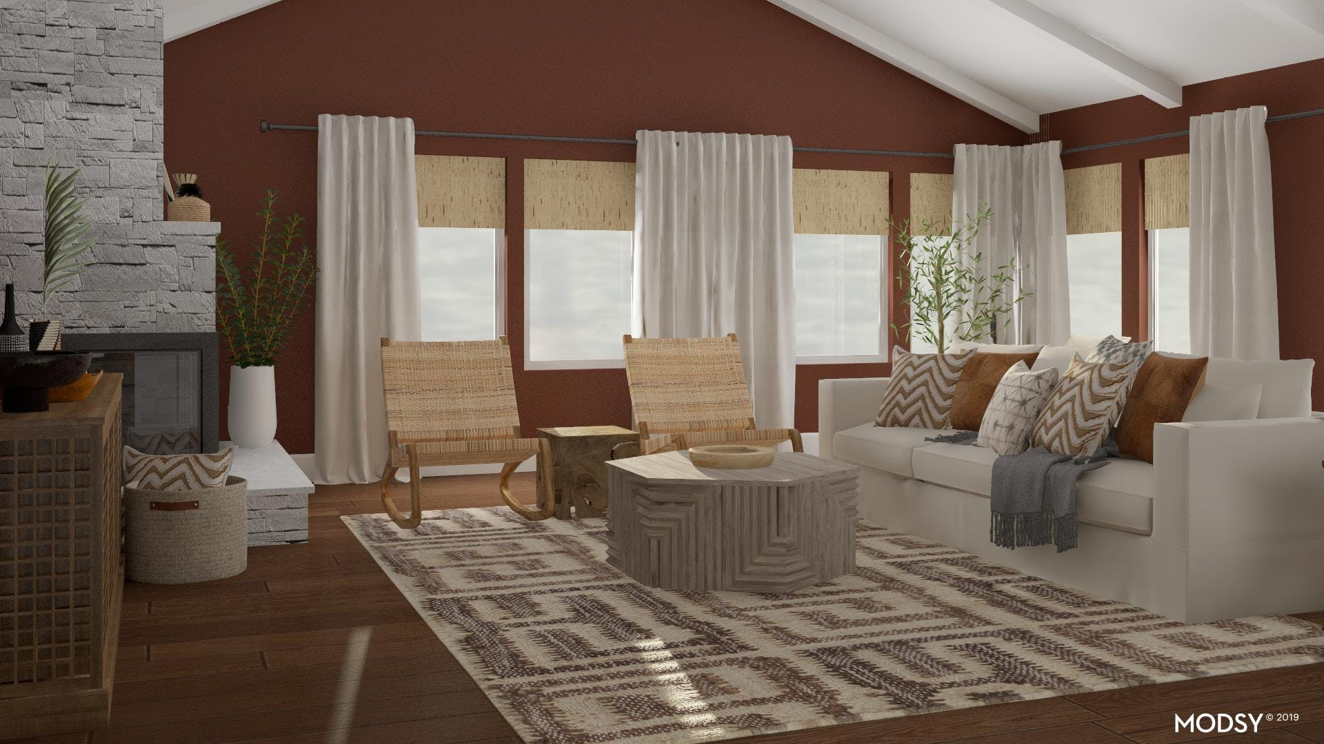 Shady Rustic Living Room With a Restful Vibe