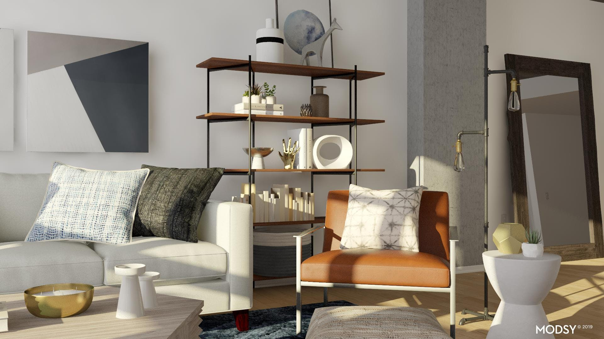 Masculine Living Room Accents