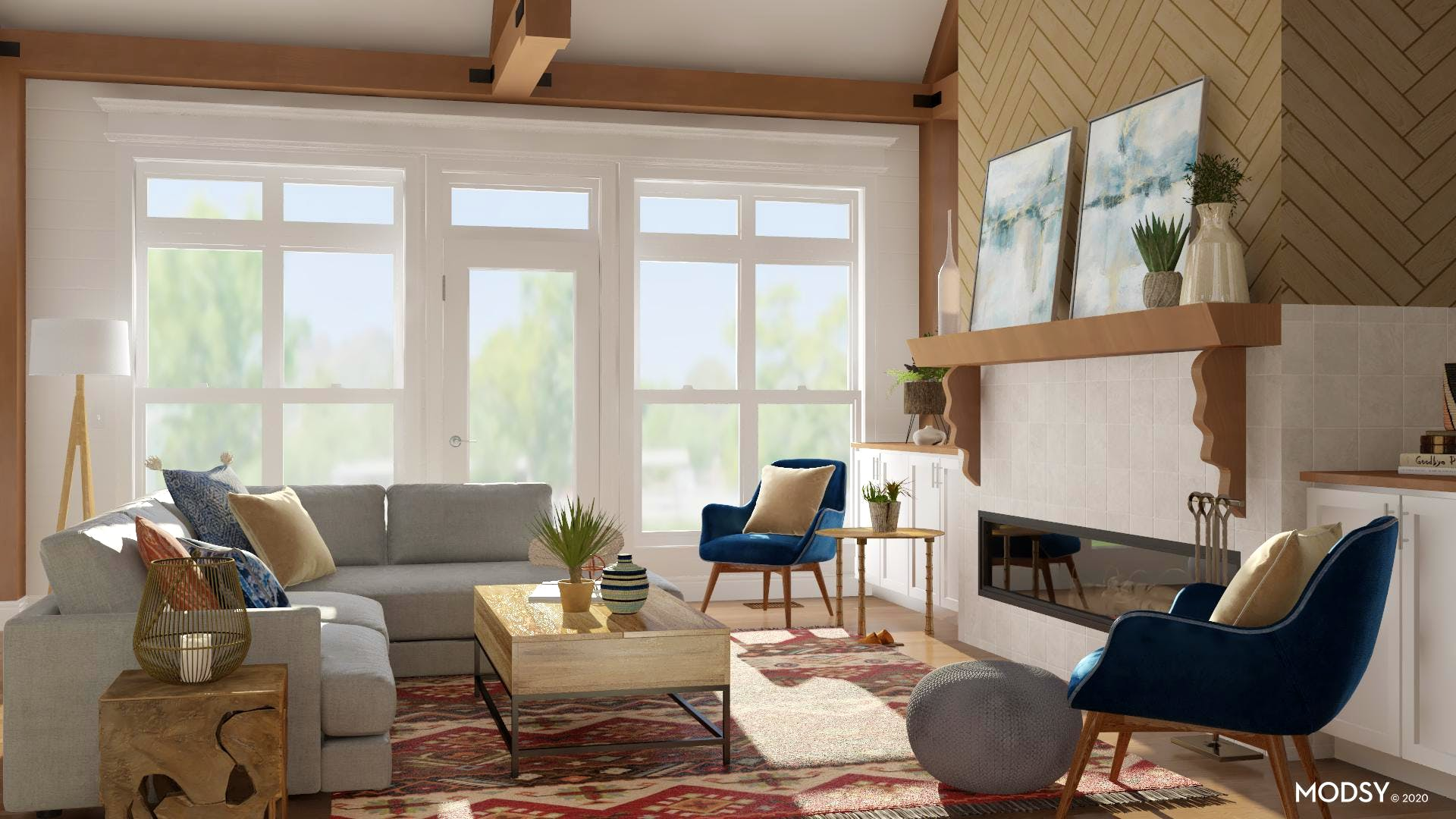 Warm And Cozy Eclectic Living Room
