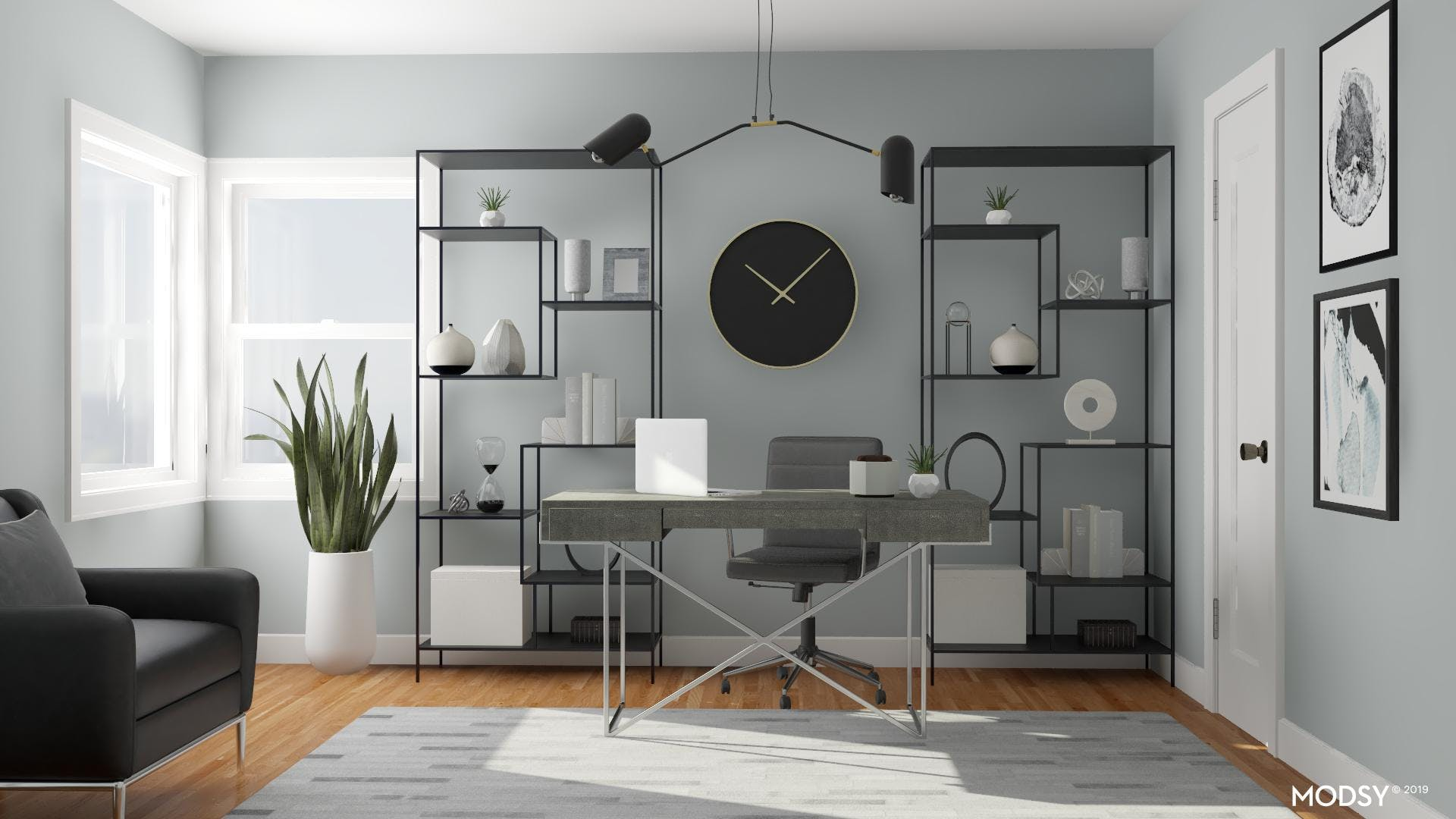 Contemporary Cool Tone Office