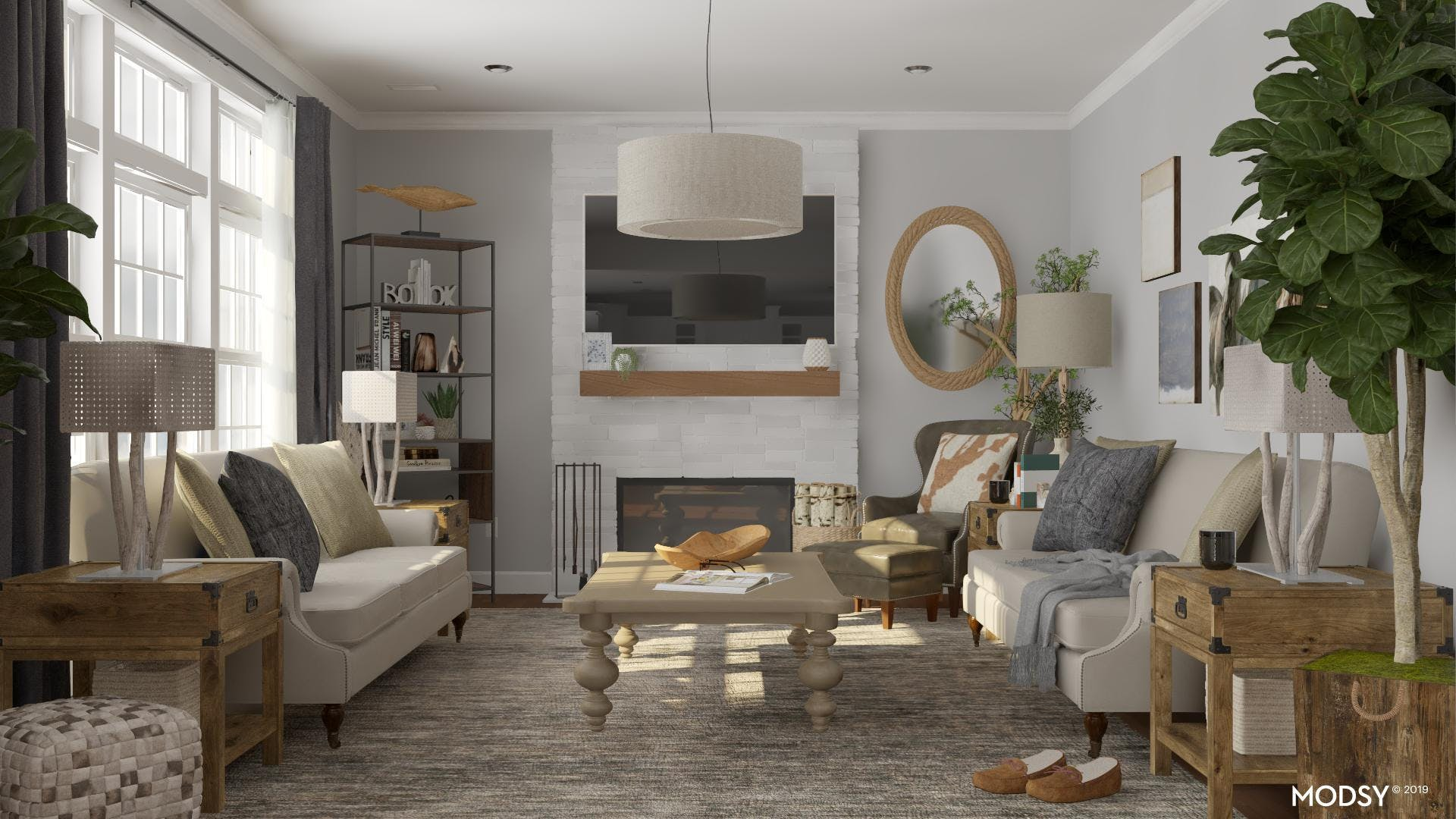 A Rustic Mix: Lush Textures