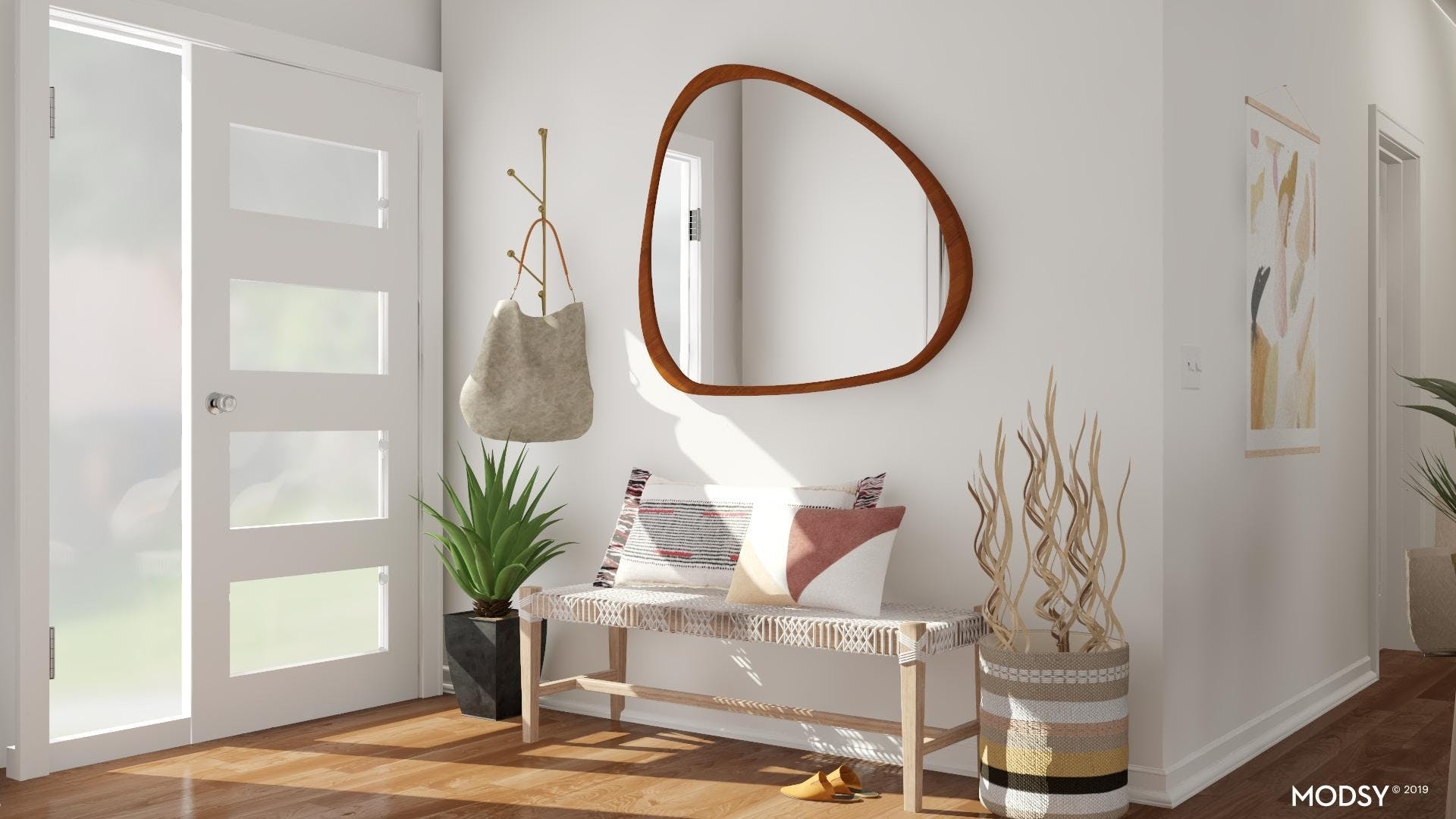 Eclectic Entry with Neutral Tones