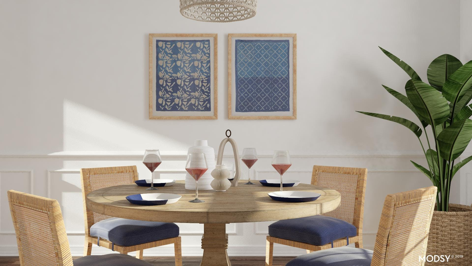 Simple And Beachy Dining